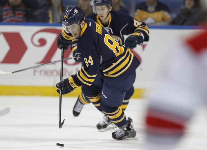 Phil Varone makes his NHL debut at First Niagara Center on Thursday against Carolina. (Harry Scull Jr./Buffalo News)