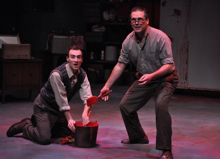 """P.J. Tighe and Paul Todaro star in MusicalFare Theatre's production of """"Red"""" in 710 Main Theatre."""