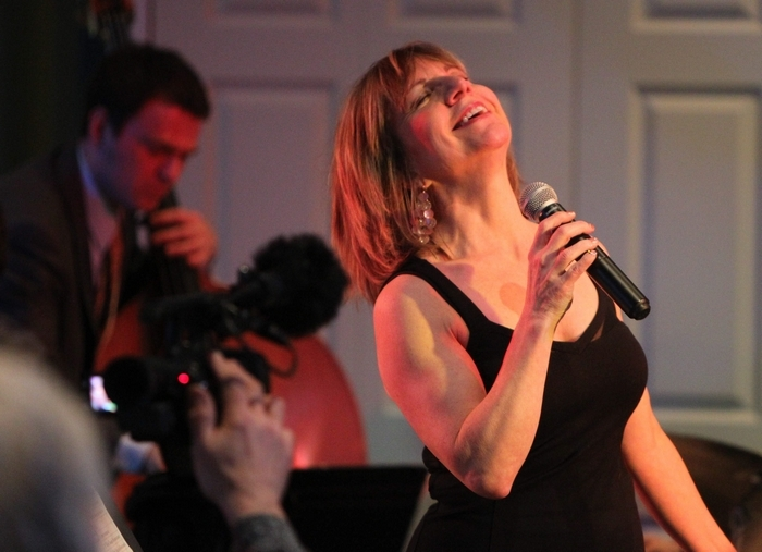 Mari McNeil performs in the Marfield Room at Trinity Episcopal Church in Buffalo on Friday. (Mark Mulville/Buffalo News)