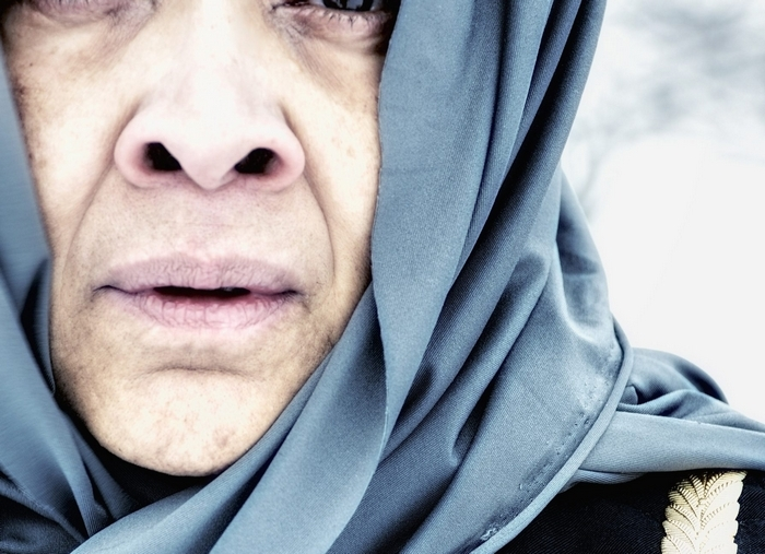 "Lorna C. Hill plays Hecuba in ""The Trojan Women."""