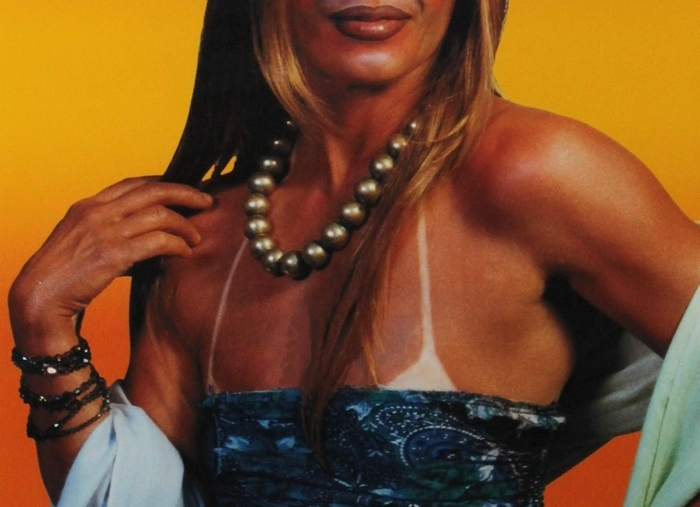 """""""Untitled (Woman in Sun Dress)"""" by Cindy Sherman is part of a new exhibit of her work."""
