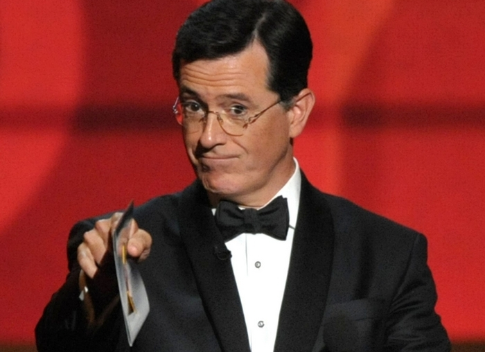 Stephen Colbert was targeting the way American hypocrisy launches transparent public relations ploys to try to cover up institutionalized racism. (Associated Press file photo)