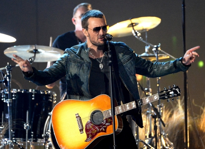 Singer/songwriter Eric Church performs with his band Sunday. (Getty Images)