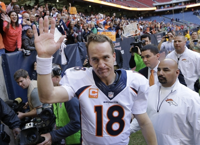 Denver quarterback Peyton Manning is one of just five repeat picks as First Team All-Pro. (Associated Press)