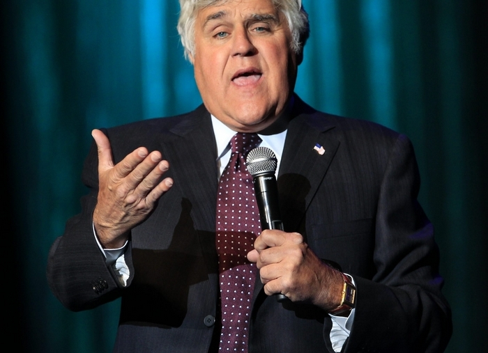 Jay Leno performs at the Seneca Niagara Casino on Saturday. (Harry Scull Jr./Buffalo News)