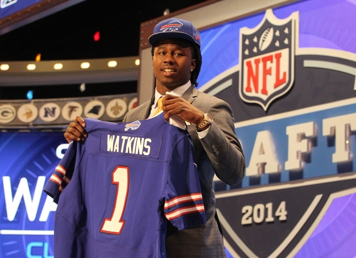 Trading away their first-round pick in 2015 to move up and acquire Clemson receiver Sammy Watkins was part of General Manager Doug Whaley's bold strategy to surround EJ Manuel with more weapons. (James P. McCoy/Buffalo News)