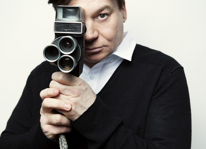 "Mike Myers at his office in New York, May 4, 2014. Myers is making his directorial debut with the documentary ""Supermensch: The Legend of Shep Gordon,"" about a talent manager who has worked with Alice Cooper, Teddy Pendergrass and other artists. (Jesse Dittmar/The New York Times) — PHOTO MOVED IN ADVANCE AND NOT FOR USE – ONLINE OR IN PRINT – BEFORE MAY 18, 2014."