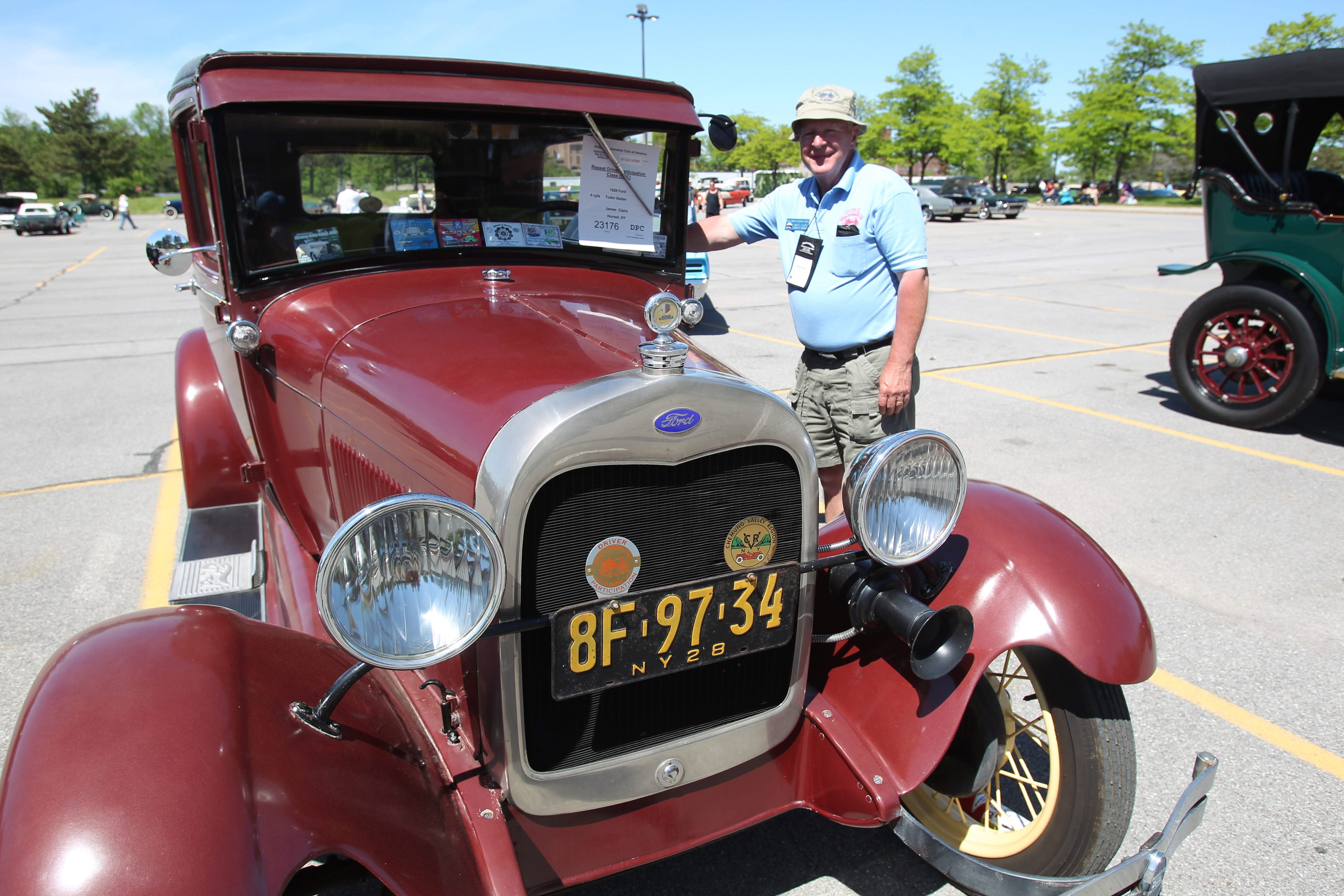 Jim Claire's 1928 Model A Ford was one of more the 400 entries at this weekend's Antique Automobile Club of America meet at the University at Buffalo. The show ended Saturday.