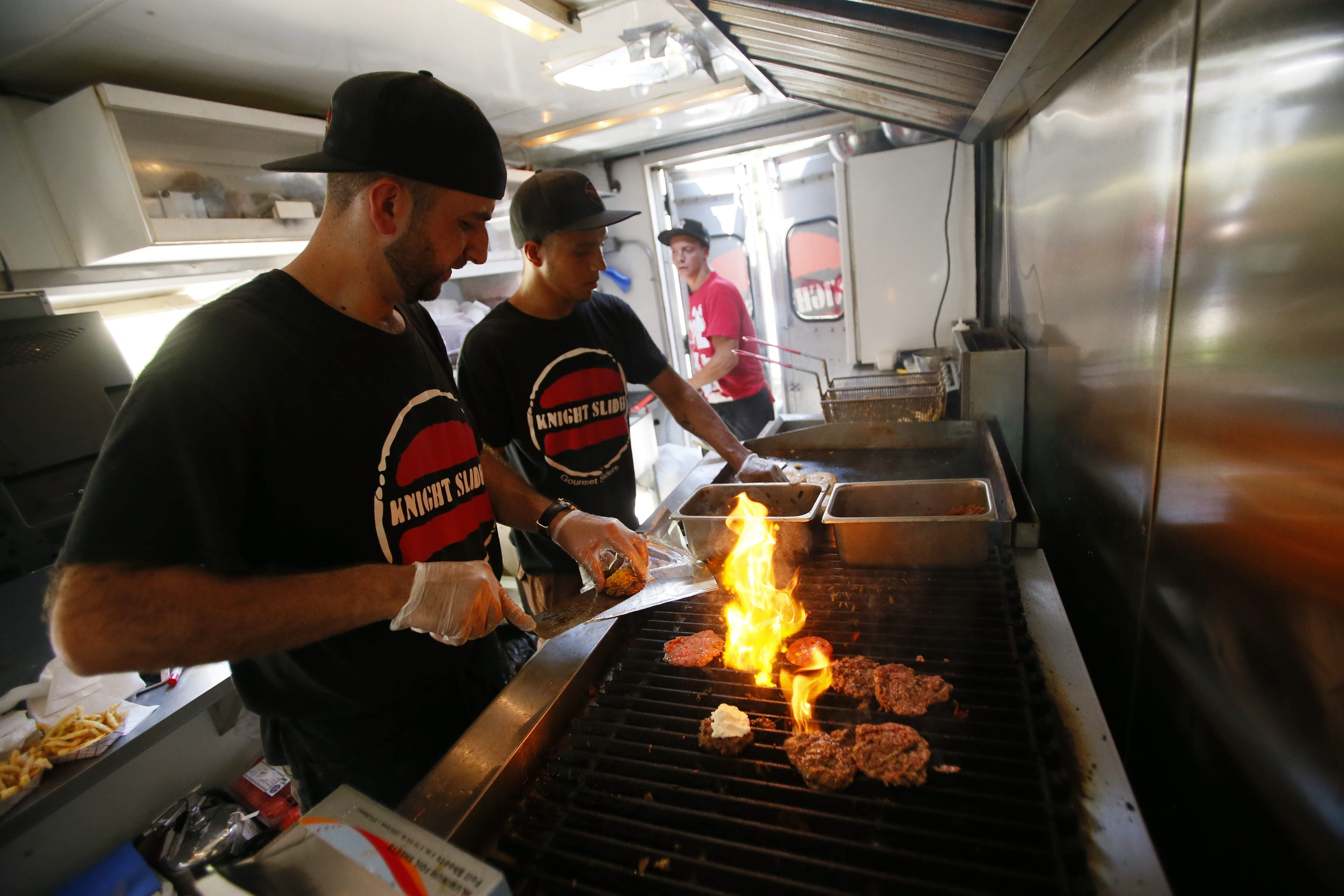 """Ayoub """"Mike"""" Abboud and his Knight Slider food truck is expected to be in Larkinville from 5 to 8 p.m. Tuesday for Food Truck Tuesday."""