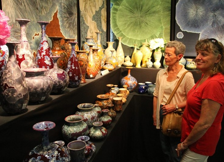 100 American Craftsmen returns to the Kenan Center for a 44th year in Lockport. Here is a photo of an exhibit from 2013. (John Hickey/Buffalo News file photo)