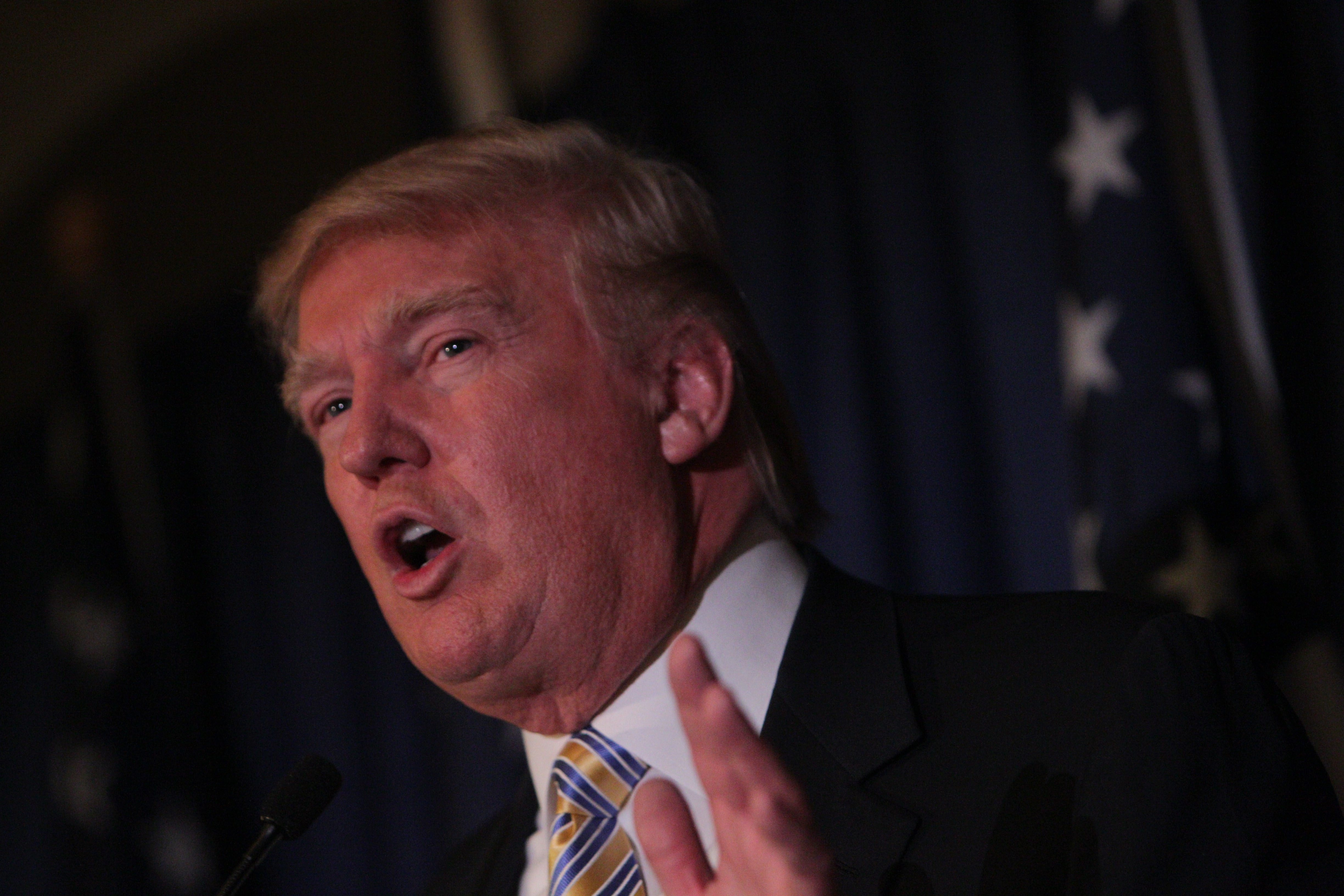 Donald Trump, shown at his appearance in January as the guest of honor and keynote speaker at the Erie County Republican Committee's Lincoln Leadership Reception, has indicated his interest in buying the Buffalo Bills.