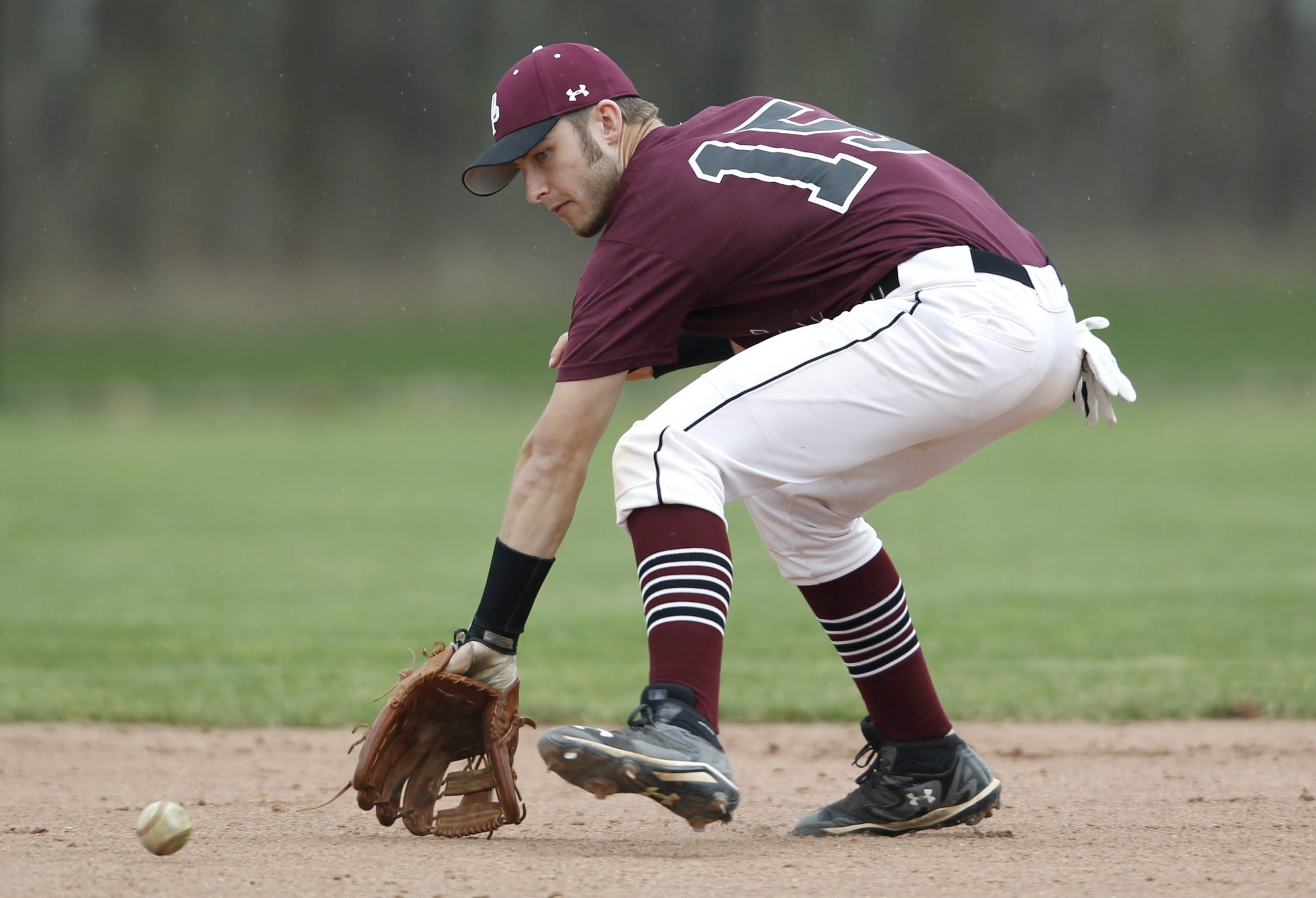 Shortstop Dave Hollins is part of an Orchard Park infield defense that's the best coach Jim Gibson has ever seen in his time coaching with the program.