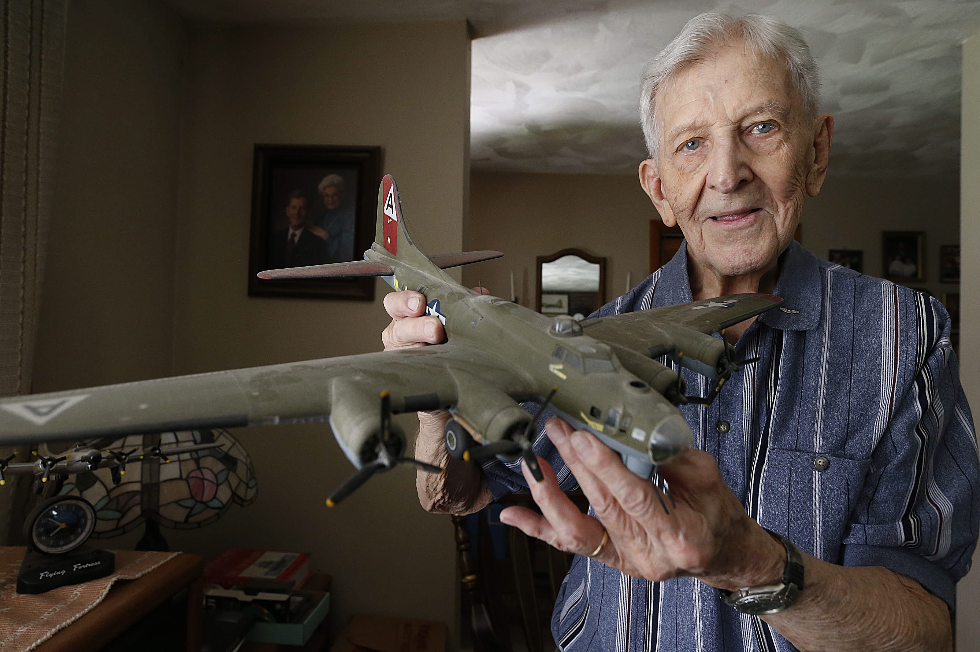 Bill Strapko, 95, a B-17 bomber pilot during World War II, reunited with members of the Tuskegee Airmen on Saturday to reminisce about the 1945 bombing of Berlin.