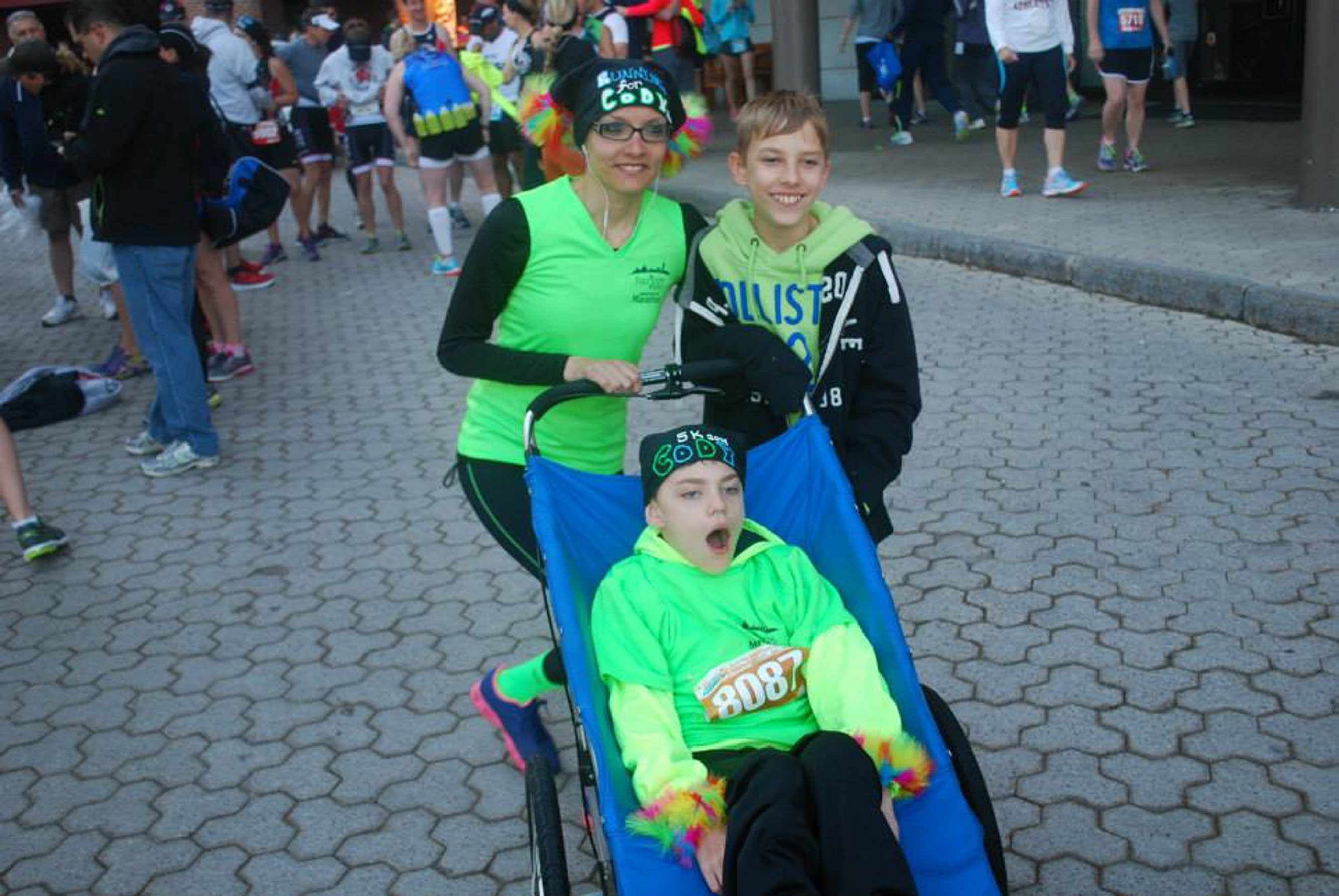 This photo from Lisa Cwiklinski shows twins Cody, center, and Justin Cwiklinski with their friend, Jen Kellerman.