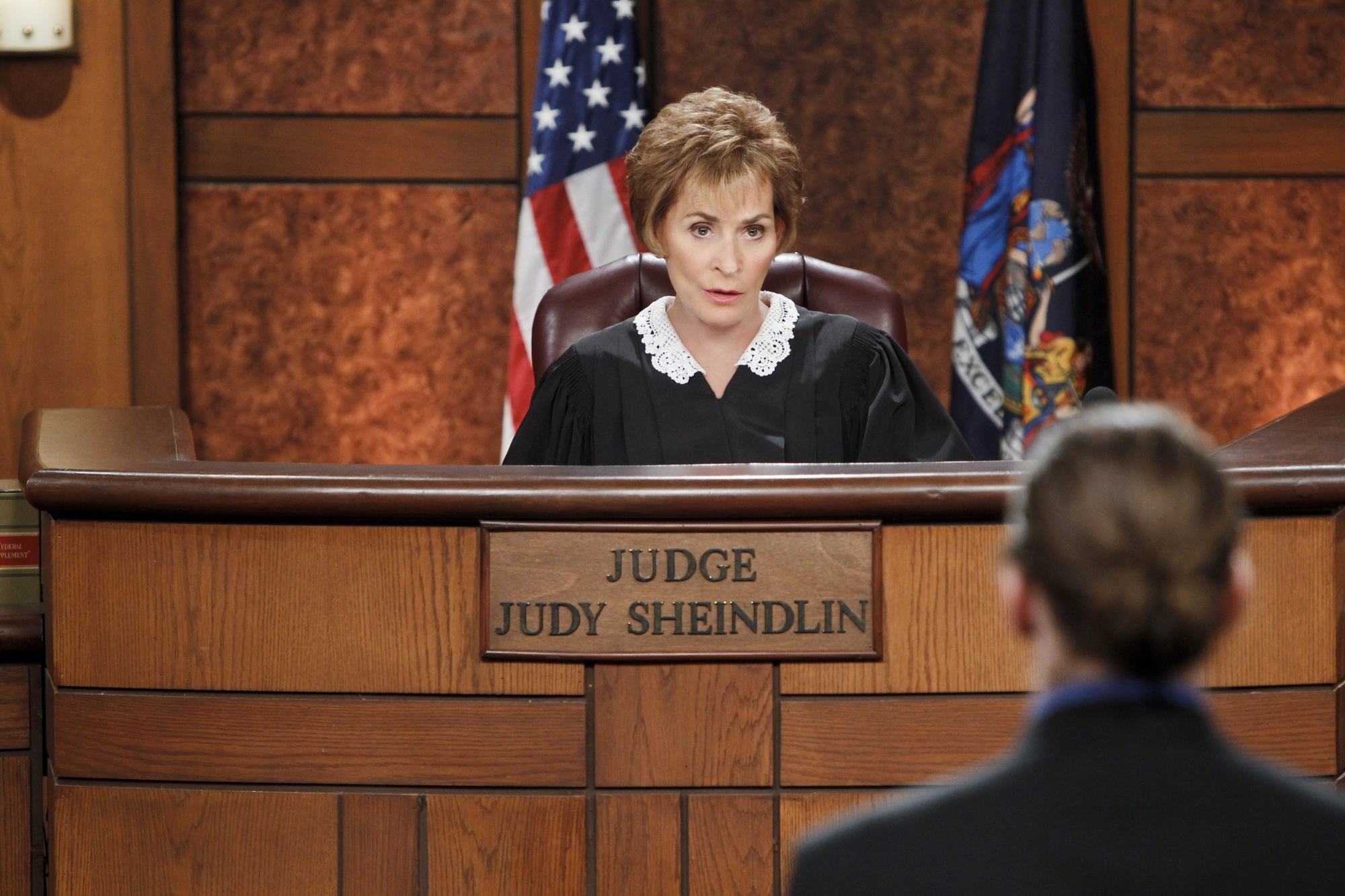"""In an undated handout photo, Judge Judith Sheindlin in a scene from her television show """"Judge Judy."""" A rarity for DVR-embattled television programming, """"Judge Judy"""" — in its 18th season — has ratings that are climbing, which prompted CBS to create an evening special on Tuesday for the straight-talking star. (Sonja Flemming/CBS via The New York Times) — NO SALES; FOR EDITORIAL USE ONLY WITH STORY SLUGGED JUDGE JUDY BY BROOKS BARNES. ALL OTHER USE PROHIBITED."""