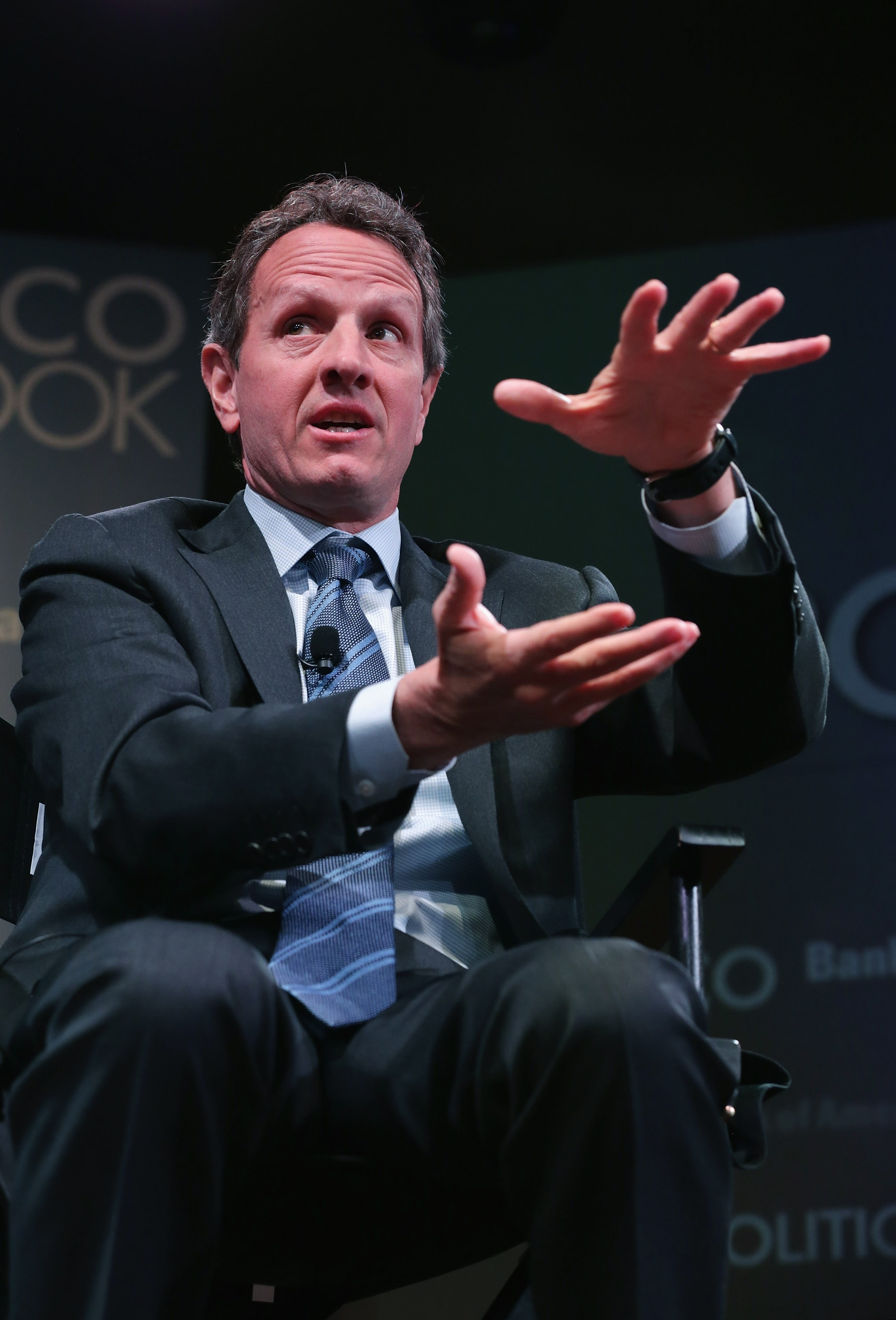 """Former U.S. Treasury Secretary Timothy Geithner says, """"We weren't perfect. It was messy. We had to learn as we went along."""""""