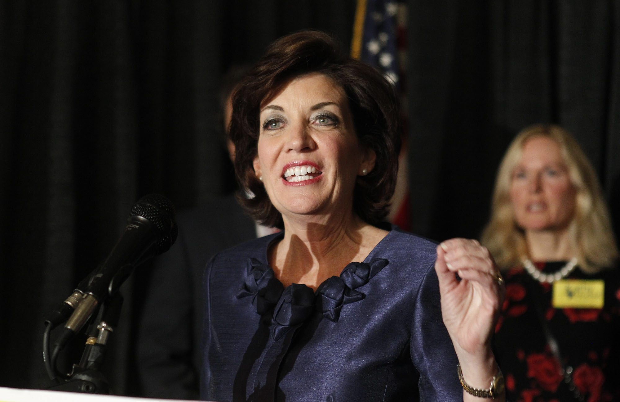 Kathy Hochul, a former member of Congress from Erie County, is the first female on a statewide Democratic ticket in two generations. (Harry Scull Jr. / Buffalo News)