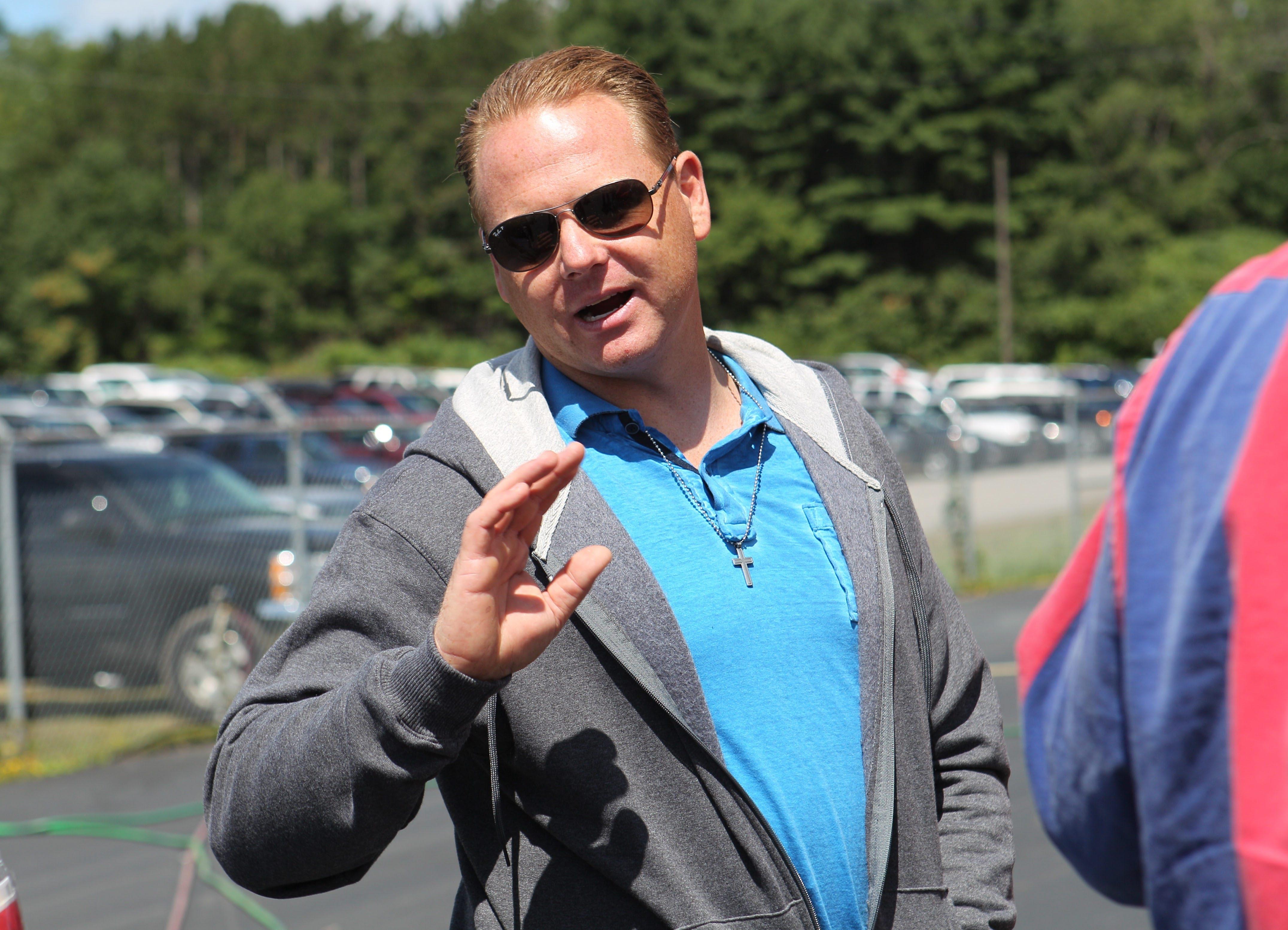 Nik Wallenda promises that something new is planned for Darien Lake on Saturday.