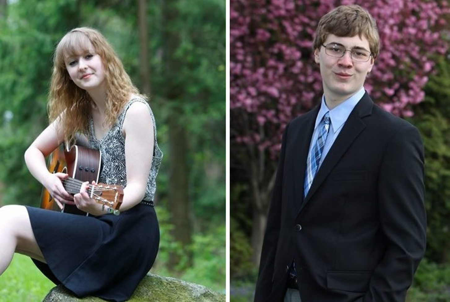 Allison Stubblebine is in the top three of her graduating class at Springville Griffith. Victor Wallum is salutatorian at Frederick Law Olmsted High School. (Photo left by John Hickey, right by Sharon Cantillon / Buffalo News)