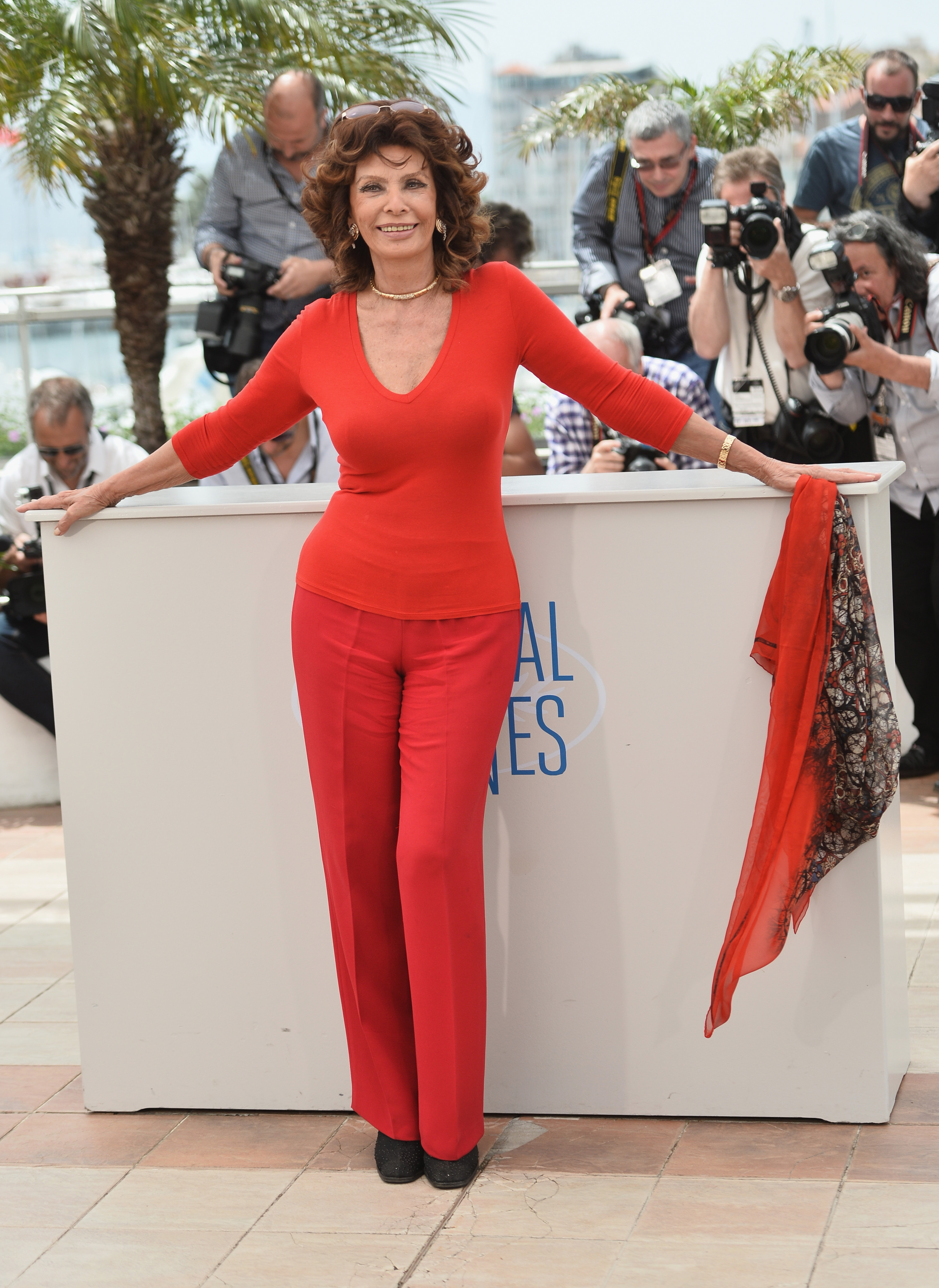 Sophia Loren, 79, strikes a pose Wednesday at the Cannes Film Festival in France.