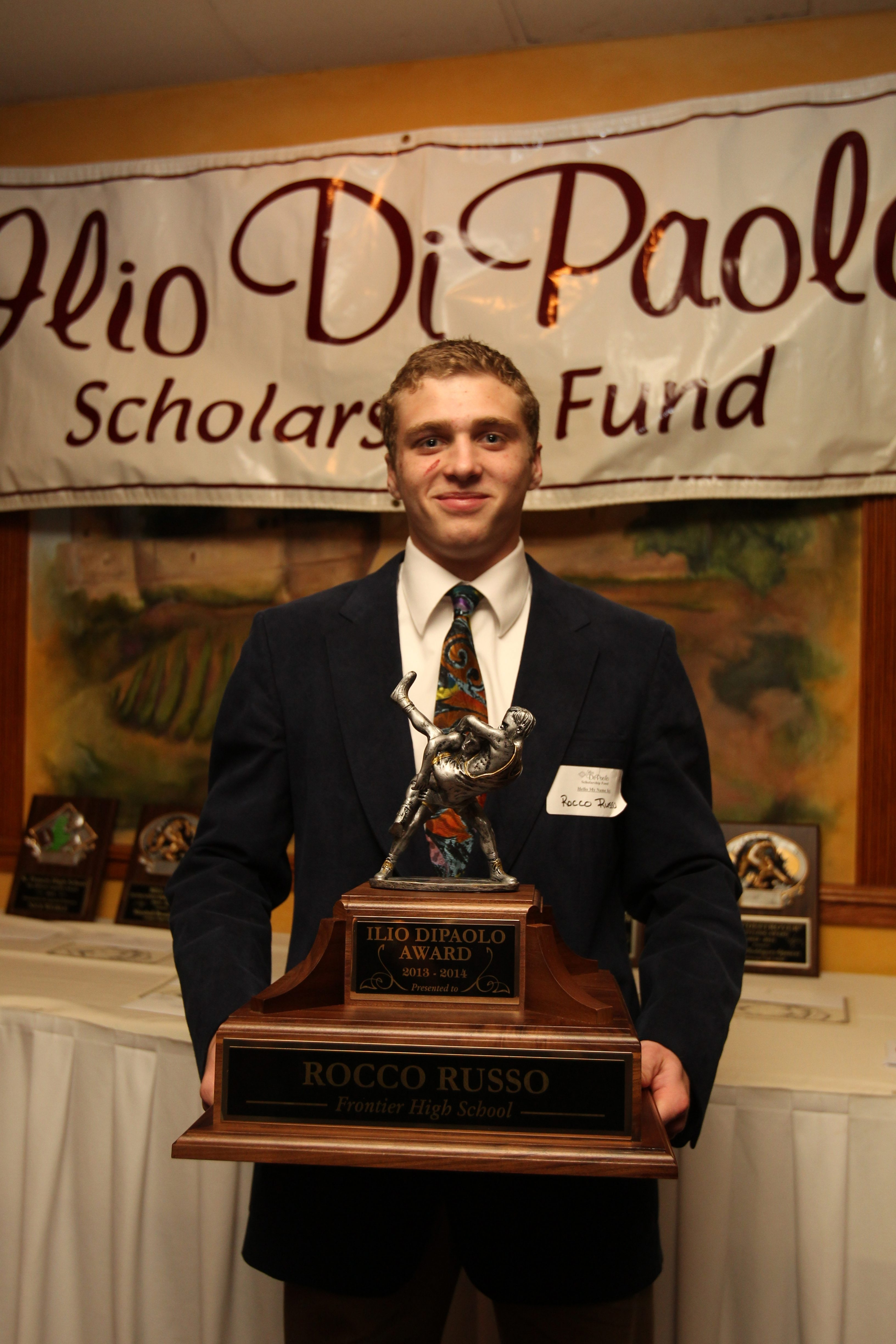 Rocco Russo from Frontier High School won the Ilio DiPaolo Award at a banquet on Monday night.