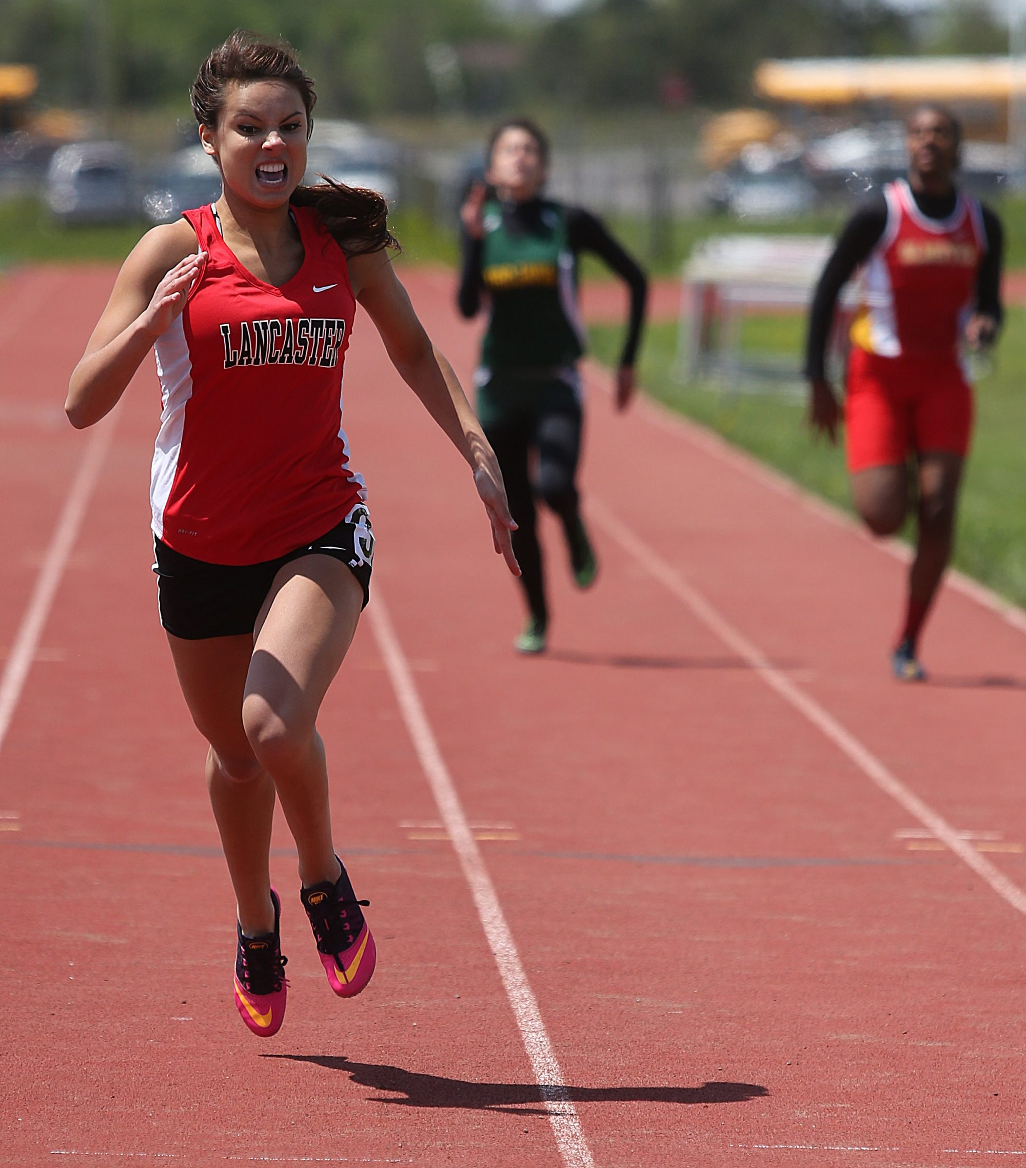Tiffany Cycon of Lancaster won the 200 meter dash in 26.24 seconds at the Western New York Girls Track and Field Classic on Saturday.