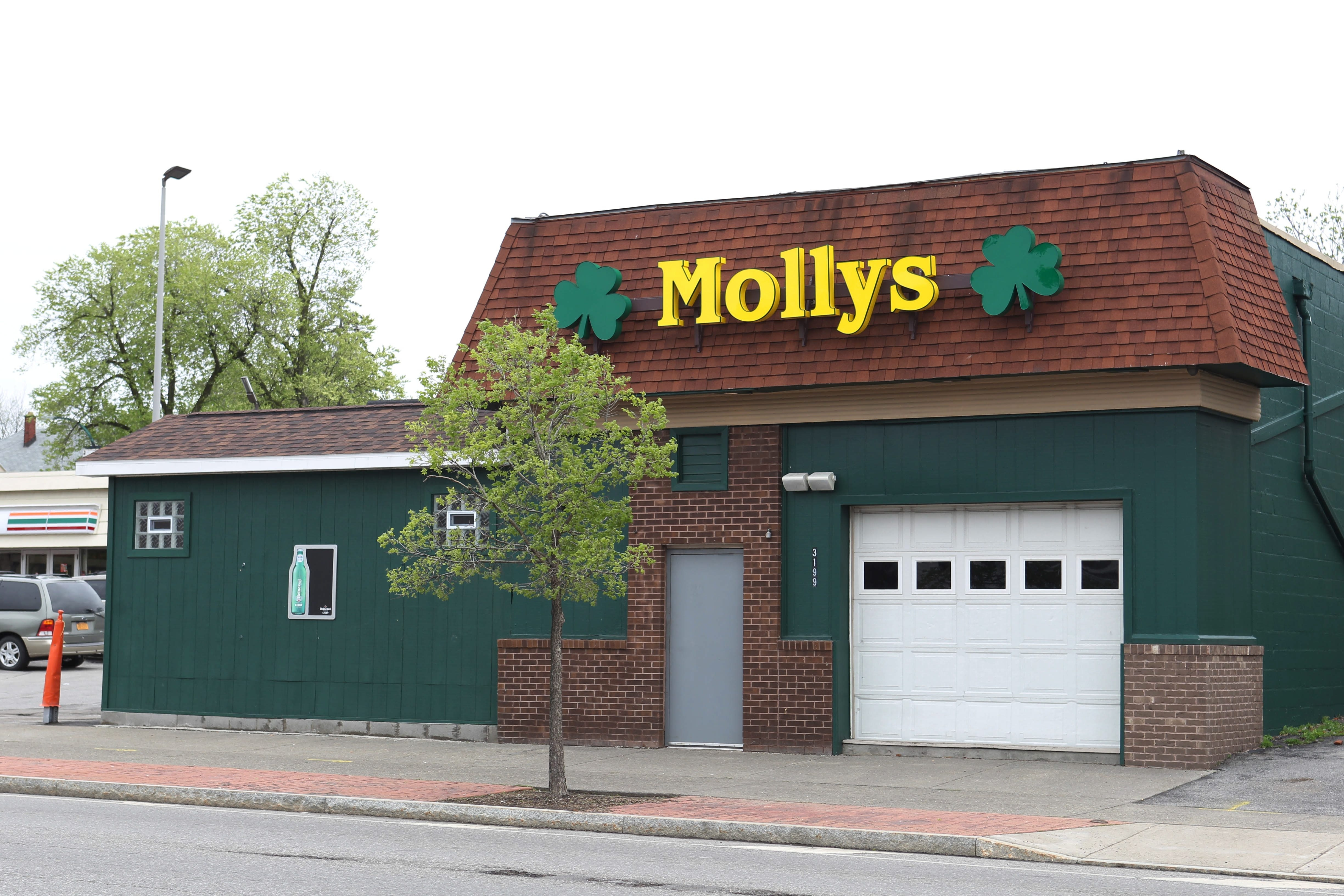 William C. Sager Jr., 28, is in intensive care after incident at Molly's on Main Street in Buffalo.