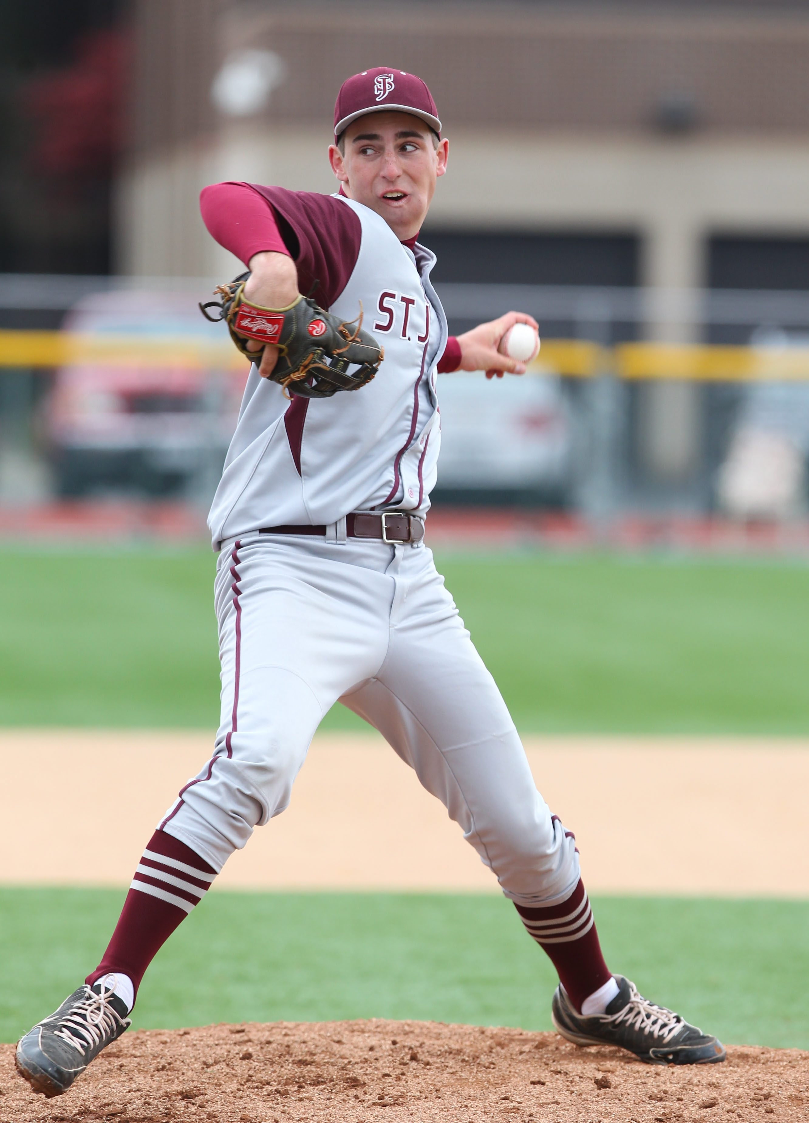 St. Joe's Bradley Kreppel tossed a two-hitter in a 12-0 shut out of visiting Nichols in Msgr. Martin Association baseball Friday.