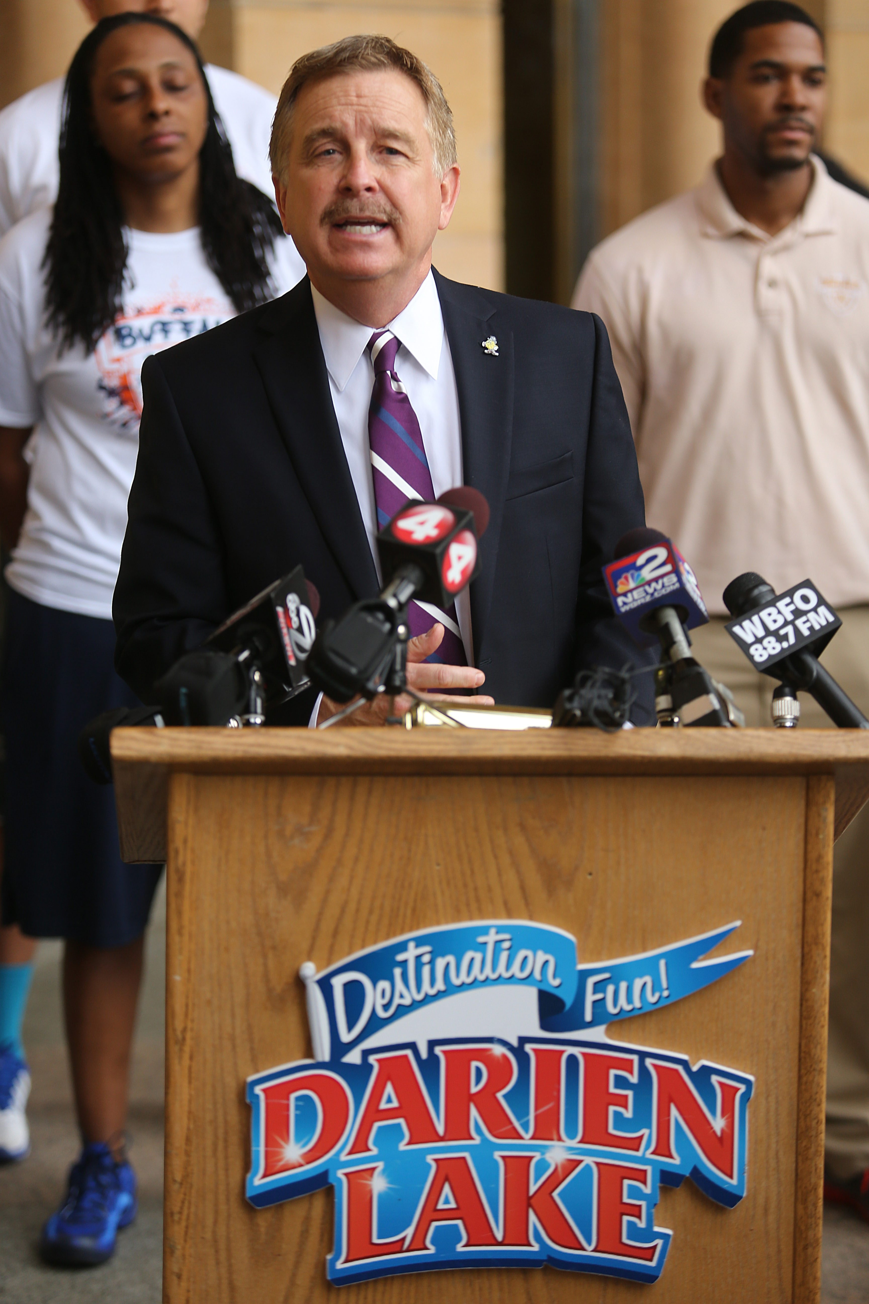 Gus Macker Basketball owner Scott McNeal said he doesn't feel like the tournament is being taken away from Buffalo. He does believe the move to Darien Lake will be more financially beneficial to the Buffalo Police Athletic League.  (Charles Lewis/Buffalo News)