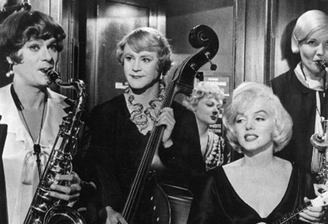 """Tony Curtis, left, Jack Lemmon and Marilyn Monroe star in """"Some Like It Hot."""""""