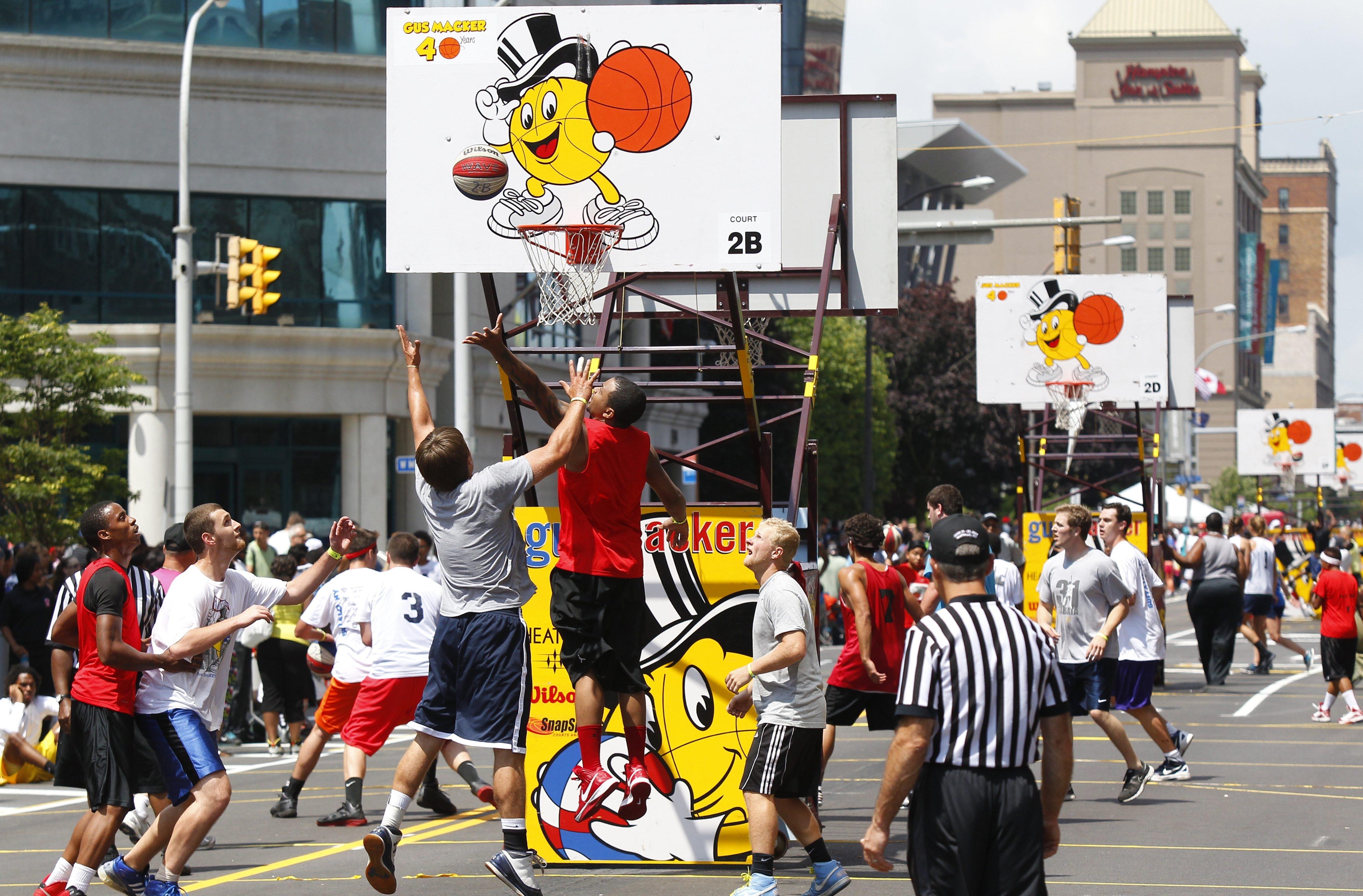 General action at last summer's Macker tournament on Buffalo streets. (Harry Scull Jr. / Buffalo News)