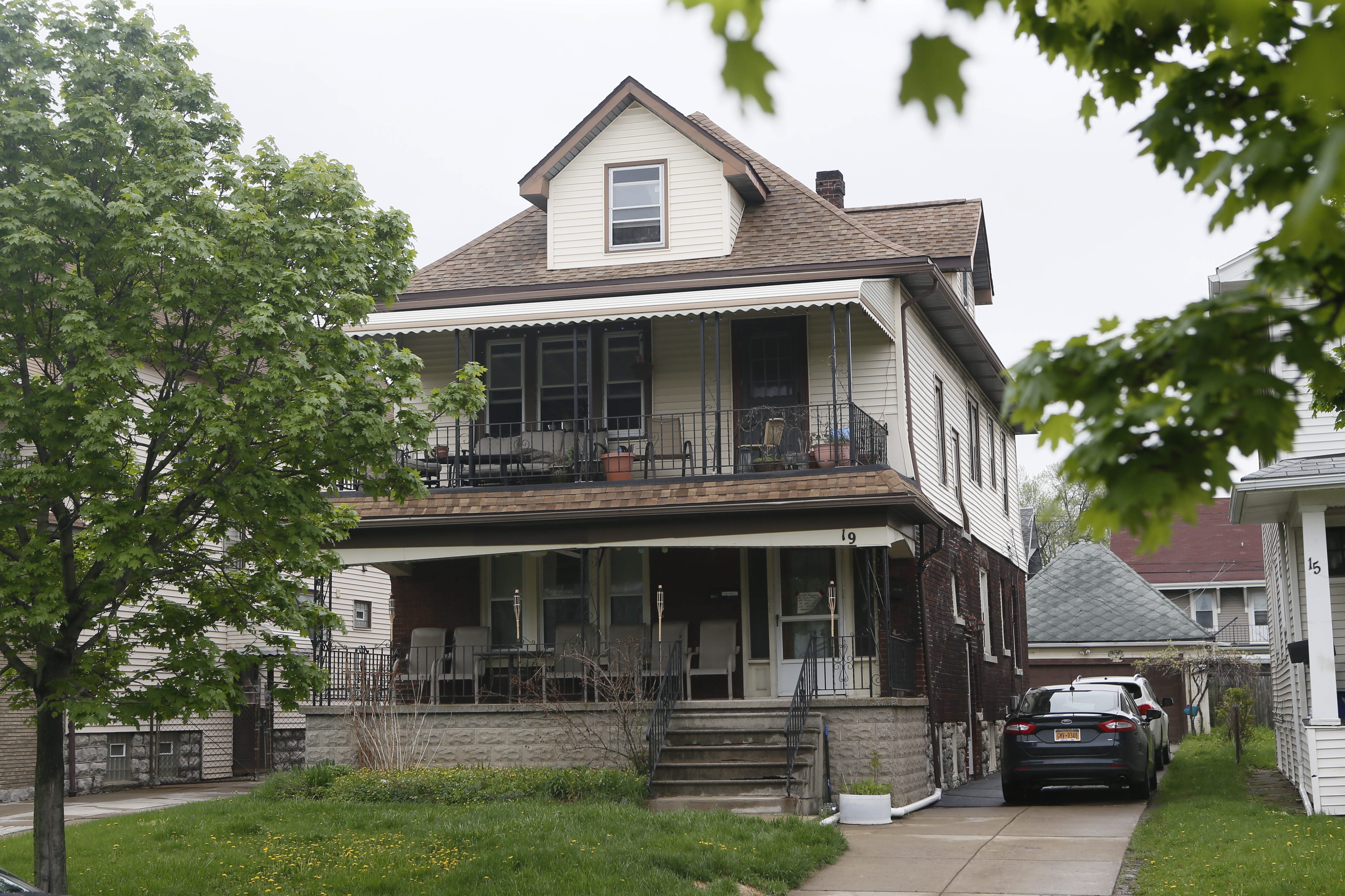 The home at 19 Lovering Ave. in North Buffalo, where a boy was fatally stabbed overnight.