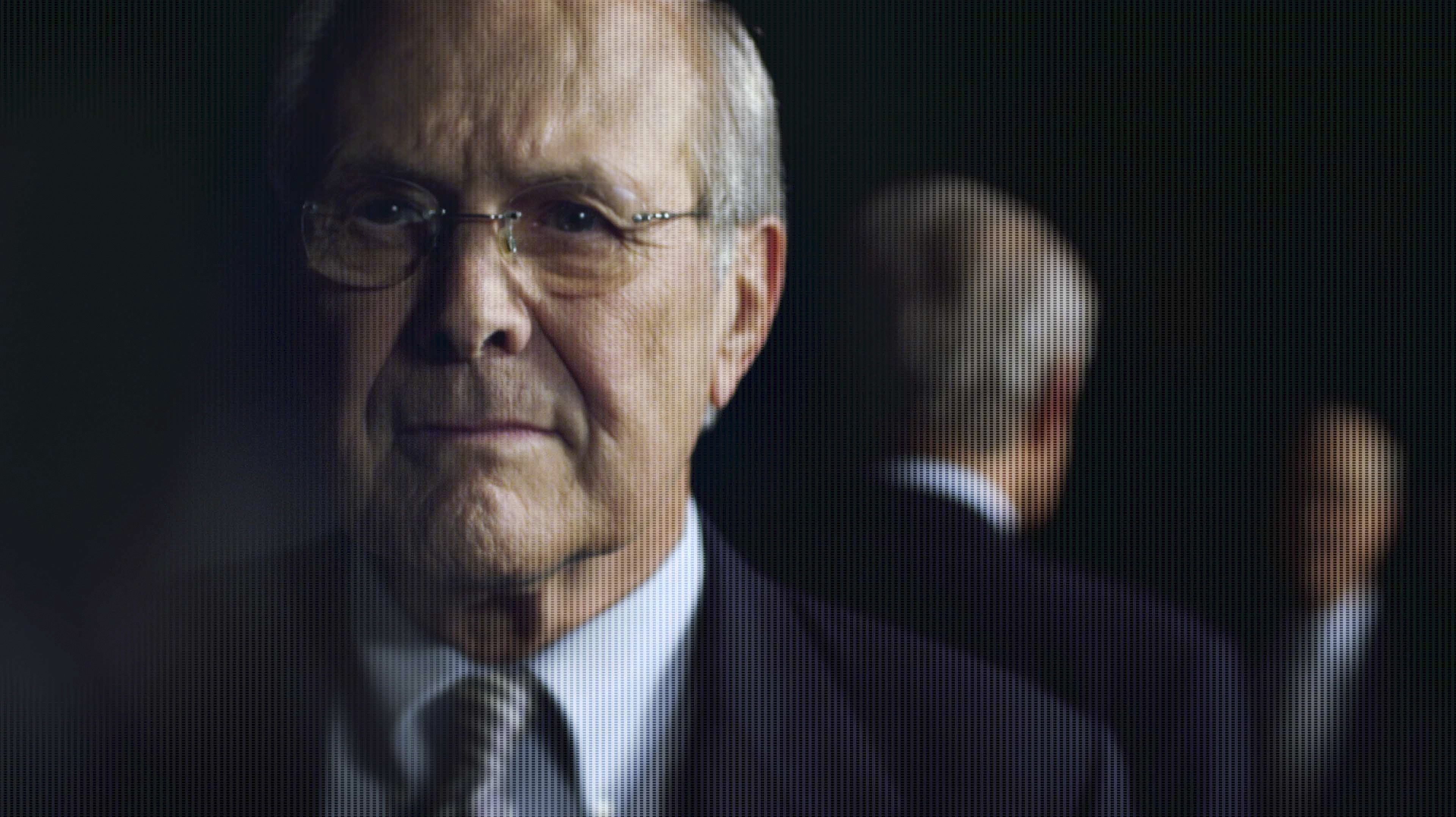 "Donald Rumsfeld, former secretary of defense, in the documentary ""The Unknown Known."""