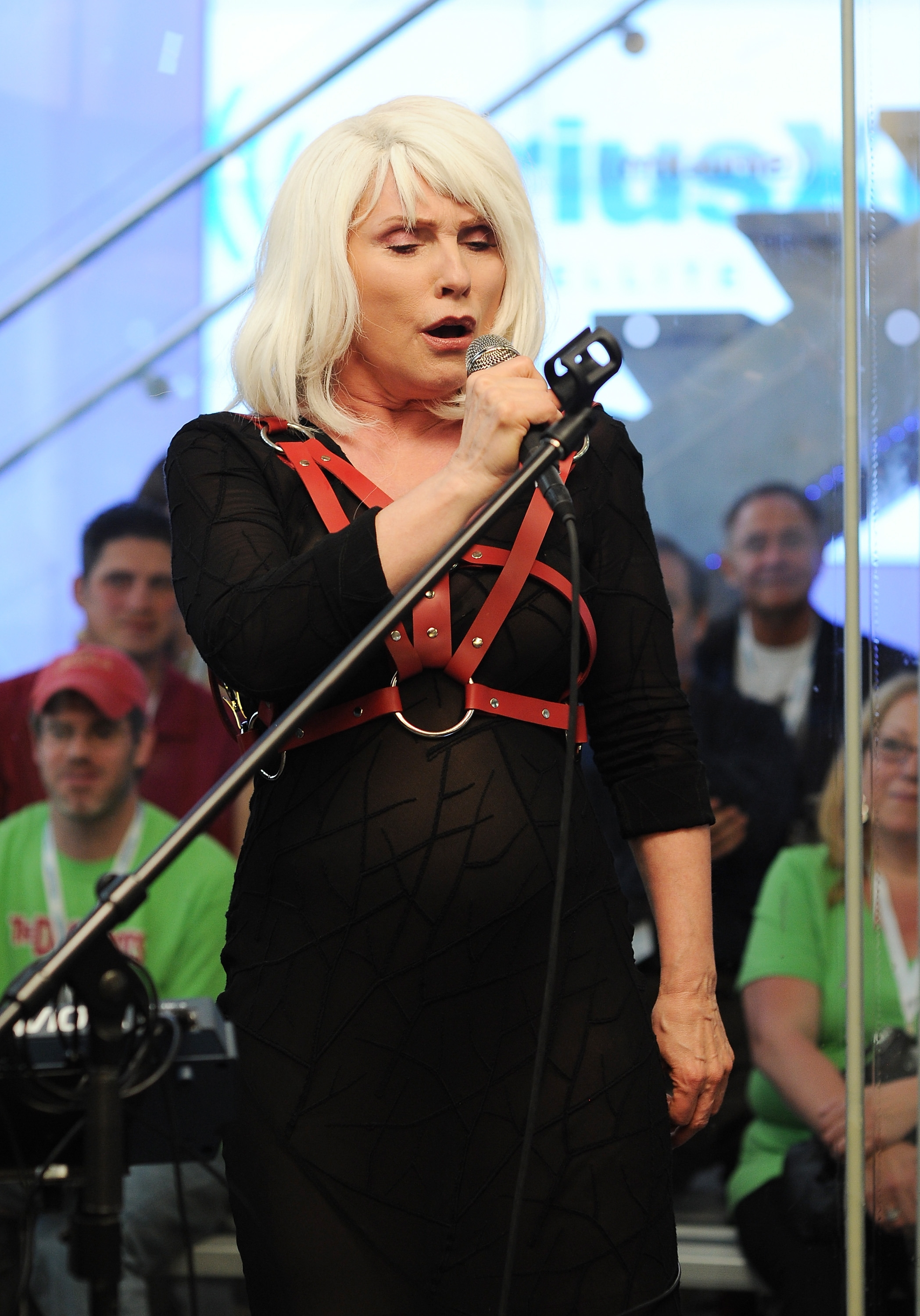 "Blonde ambition on stage: Debbie Harry of Blondie performs during SiriusXM's ""Artist Confidential"" at the SiriusXM Studio in New York City on Monday."