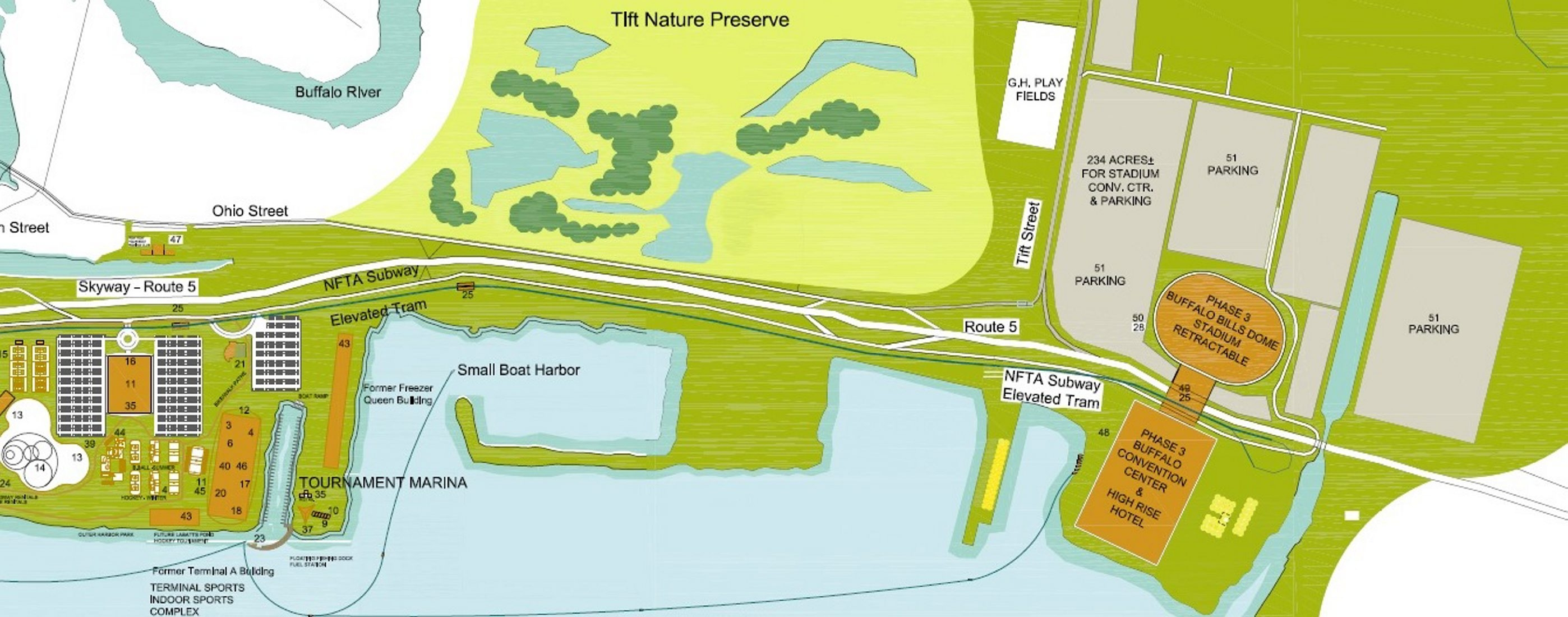 Part of the proposal for massive waterfront sports complex.