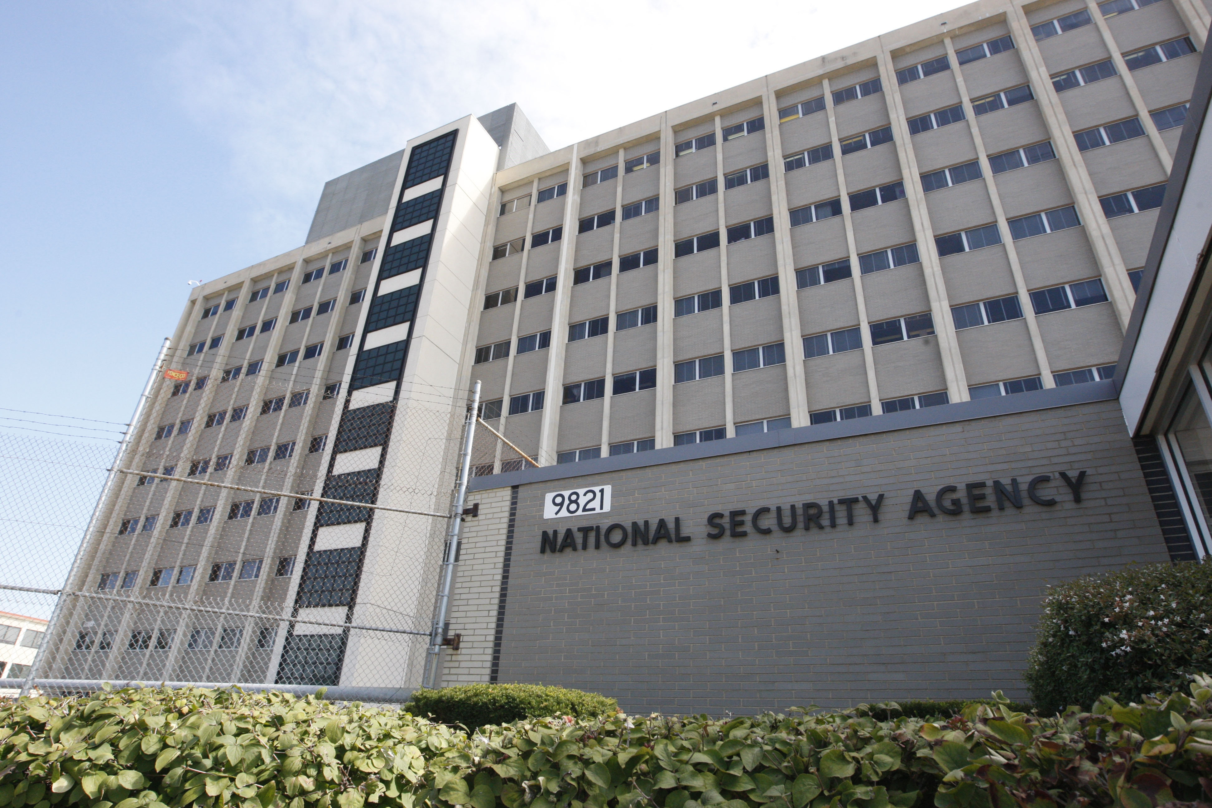 File photo, shows the National Security Agency building at Fort Meade, Md.  (AP Photo/Charles Dharapak, File)