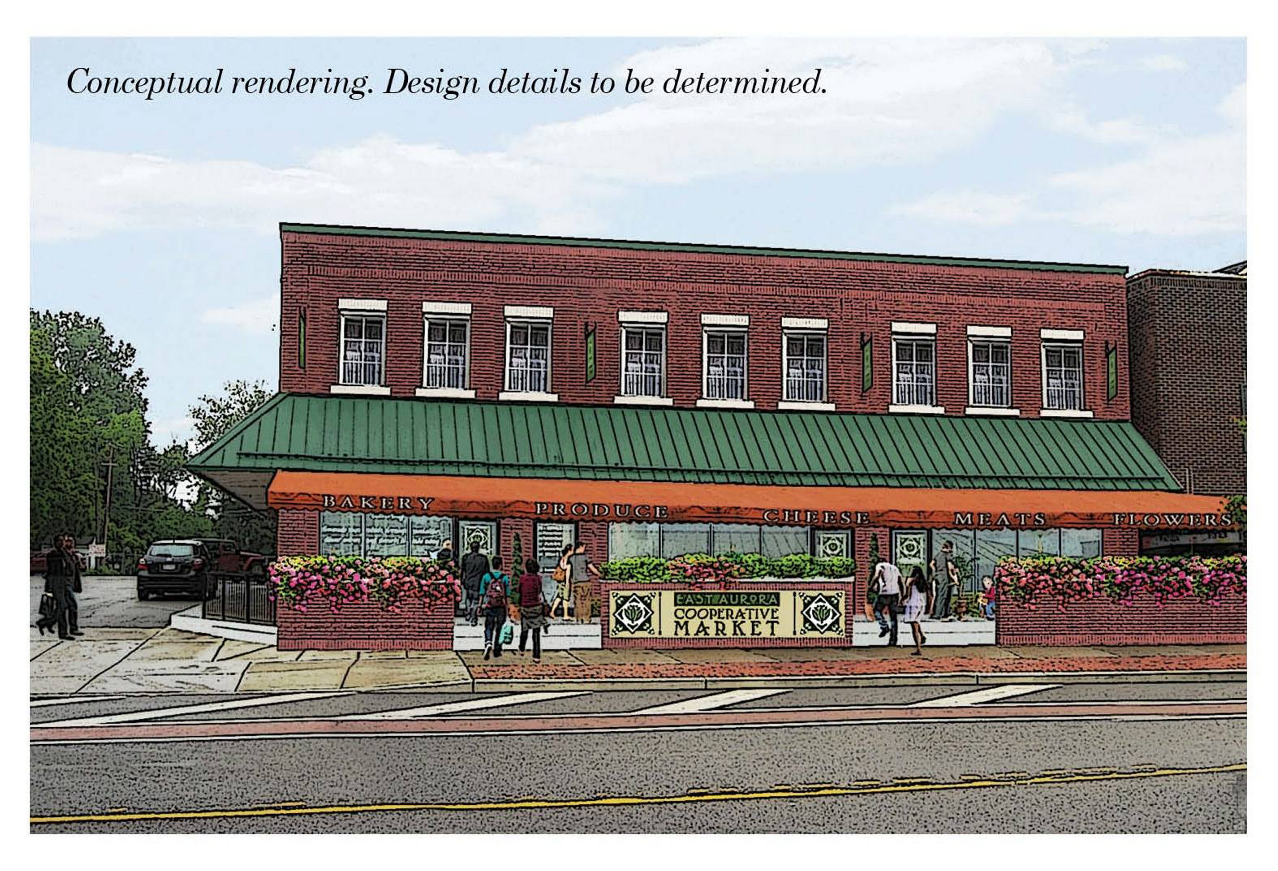 An artist's rendering of the East Aurora Food Cooperative Market, which will be located at 591 Main St., East Aurora.
