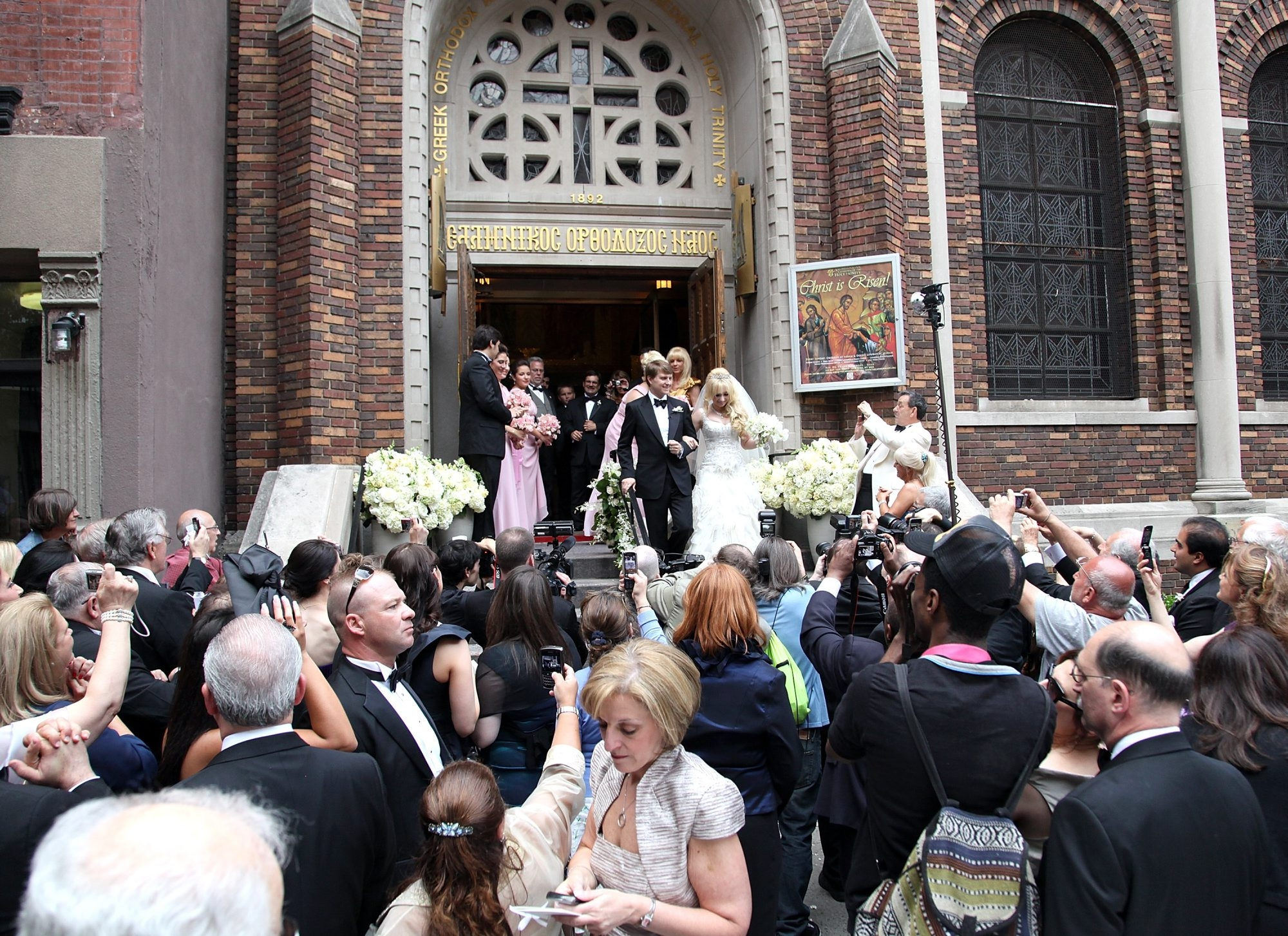 Getty Images  Christopher Nixon Cox and Andrea Catsimatidis attend their wedding at the Greek Orthodox Cathedral Of The Holy Trinity on June 4, 2011, in New York City.