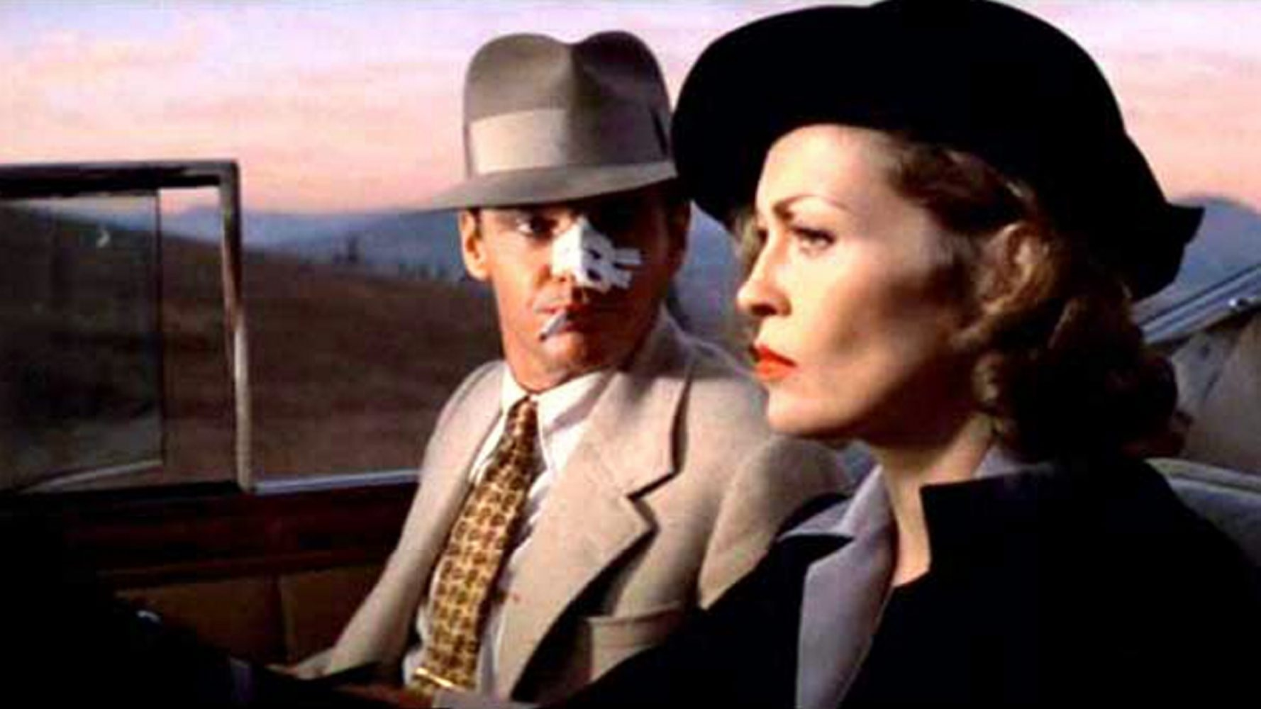 """Jack Nicholson and Faye Dunaway star in """"Chinatown"""" showing at the Screening Room Cinema Cafe."""