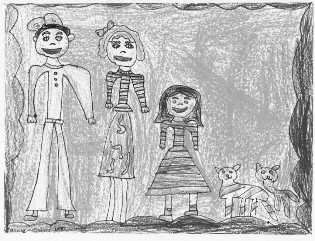 A family portrait through the eyes of a child: Hand-drawn treasures like this are keepers.