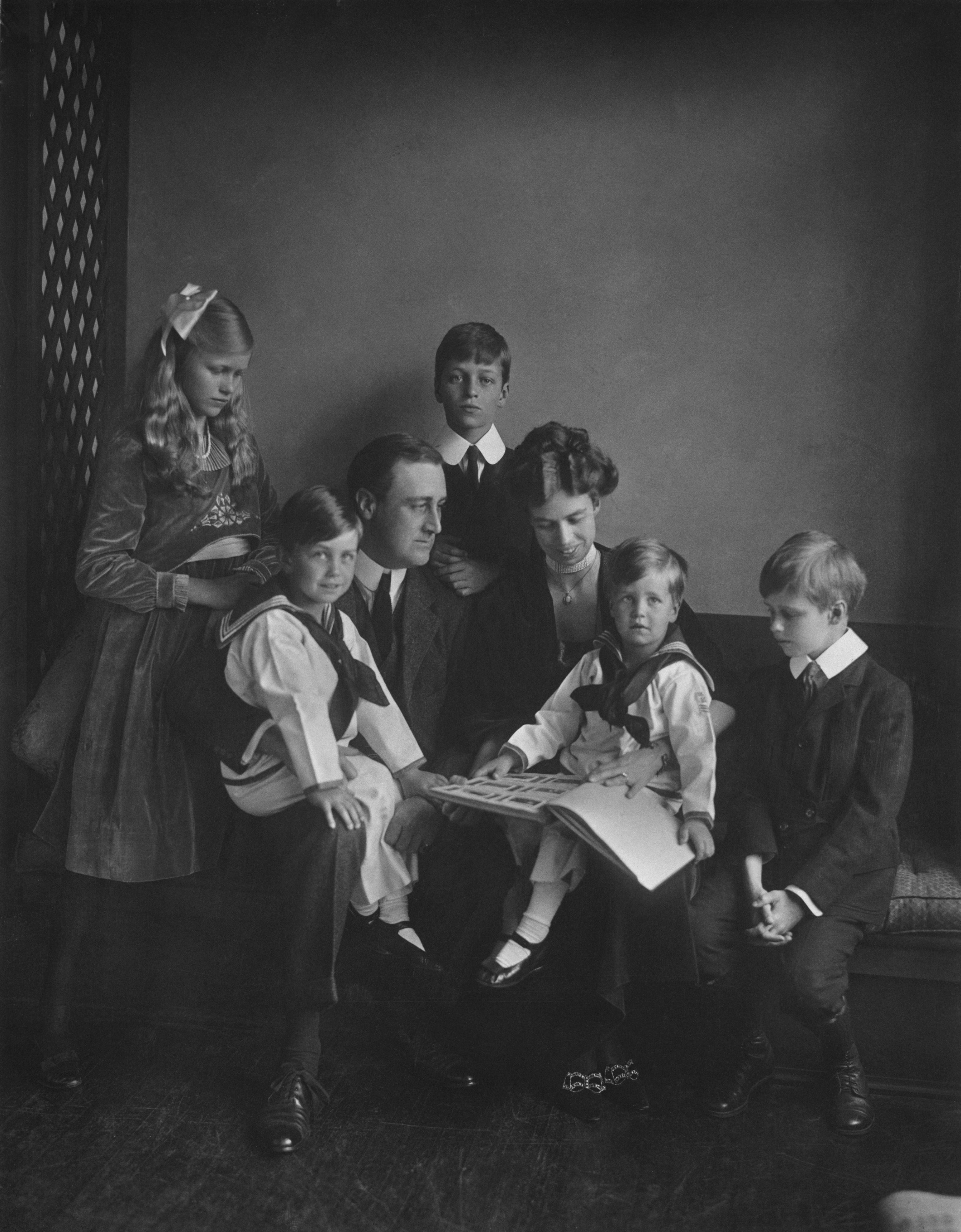 Ken Burns' next project for PBS will be a documentary on the Roosevelts, including Franklin and Eleanor, seen here with their children in June 1919.