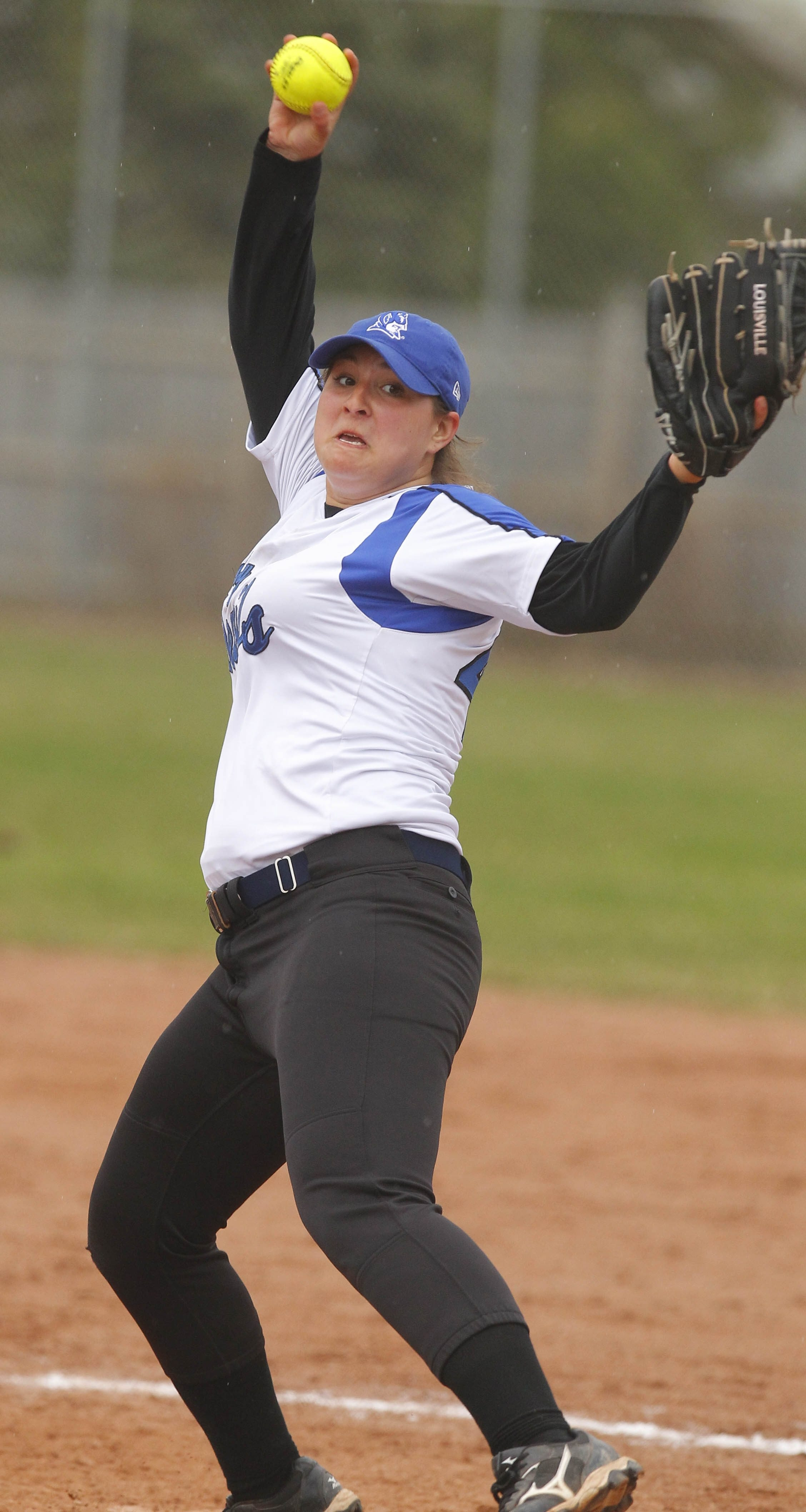 Kenmore West's Charlotte Miller had a solid game Monday during in 15-3 win over No. 5 ranked Niagara Falls.