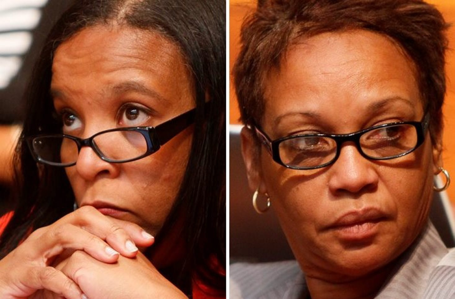Fired Buffalo school administrators Yamilette Williams, left, and Faith Morrison Alexander are each seeking at least $3 million in damages over their termination by the Buffalo School District.