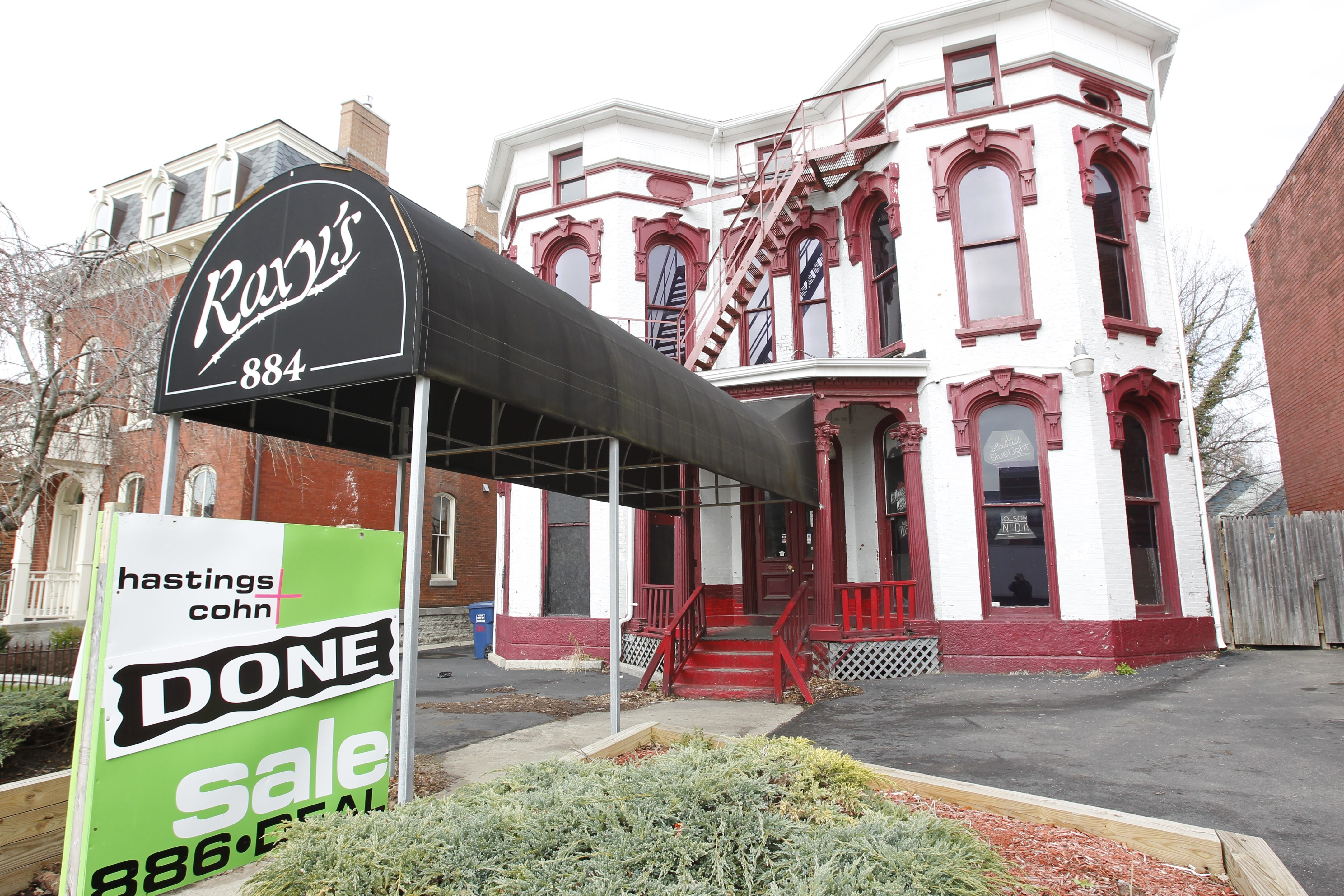 Roxy's, a former gay and lesbian bar on Main Street, has been purchased by Buffalo State College graduate Russ Conrad of Lewiston.  He plans to convert  the building to residential and commercial  units aimed at the nearby Buffalo Niagara Medical Campus.