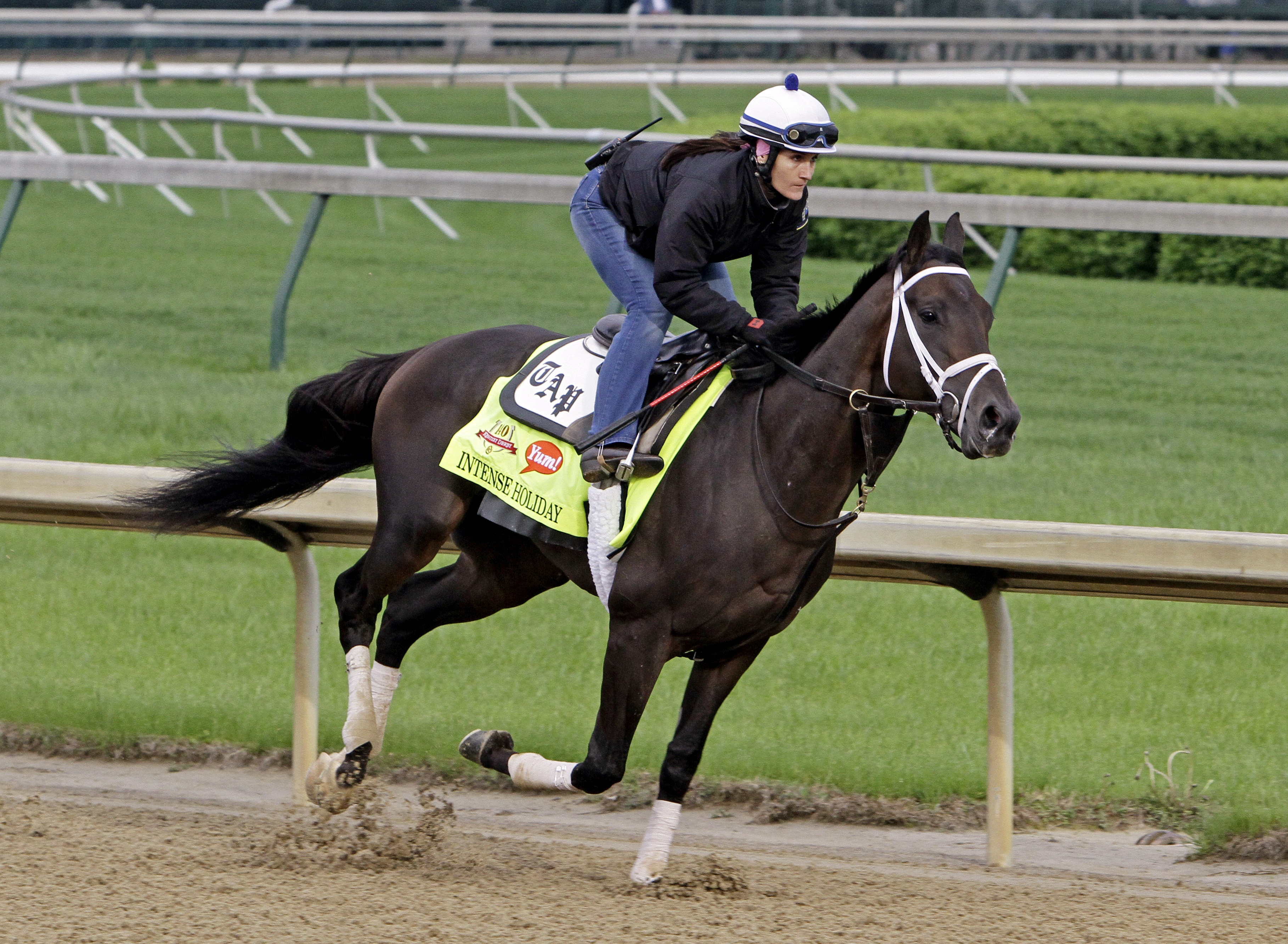 Intense Holiday, trained by Todd Pletcher, has loved the Churchill Downs dirt course since his arrival.