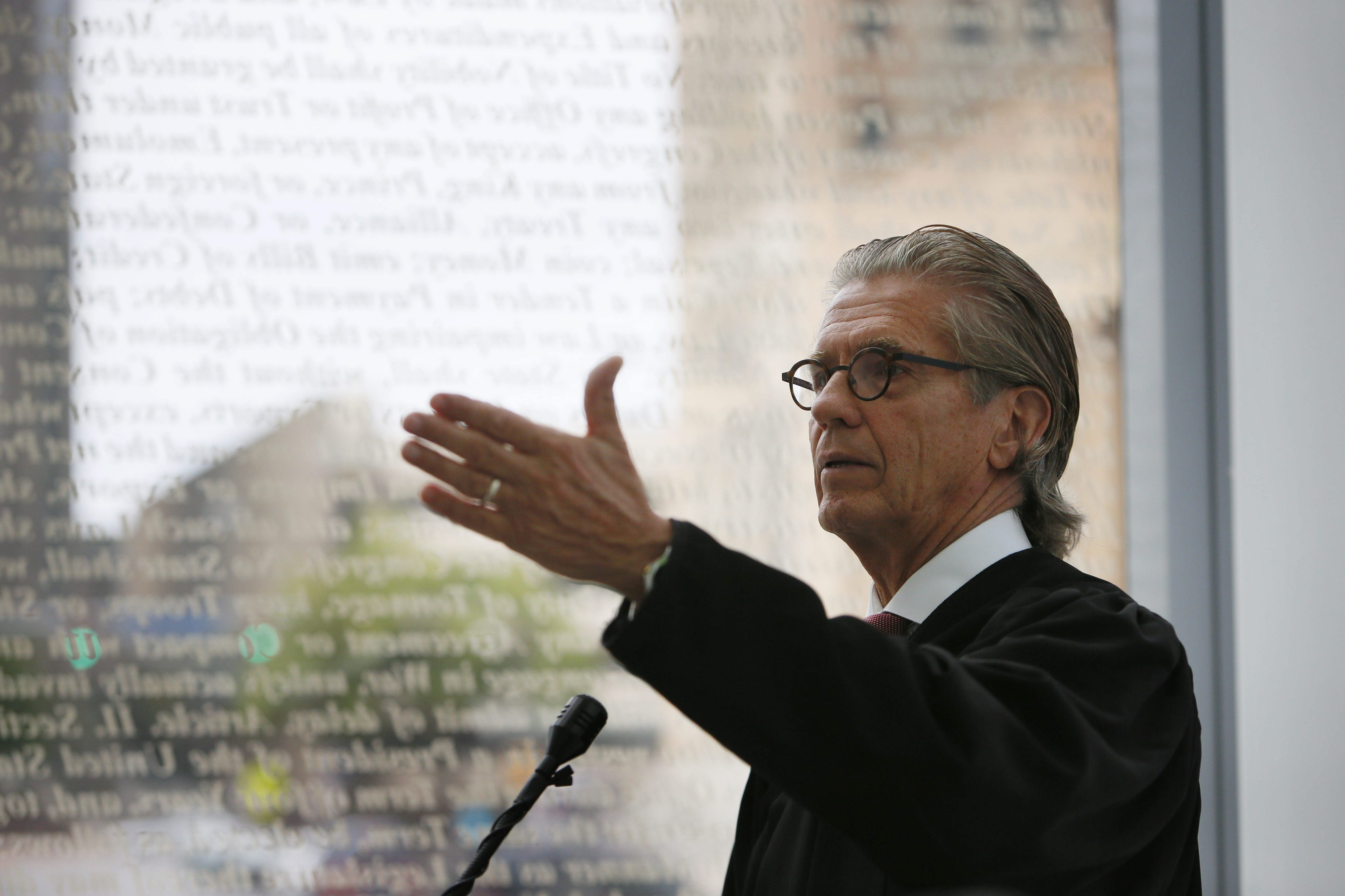 Chief U.S. Judge William M. Skretny was instrumental in the construction of the new courthouse on Niagara Square. (Buffalo News file photo)