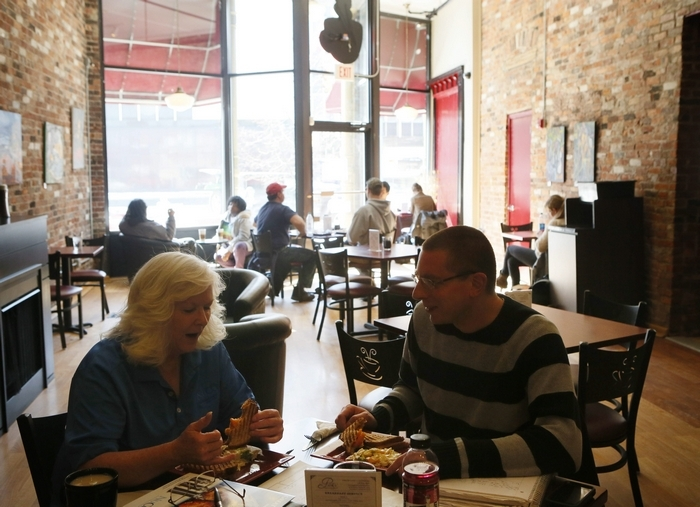 Perk's Café on Broadway is the perfect lunch spot for busy downtown workers. (Derek Gee/Buffalo News)