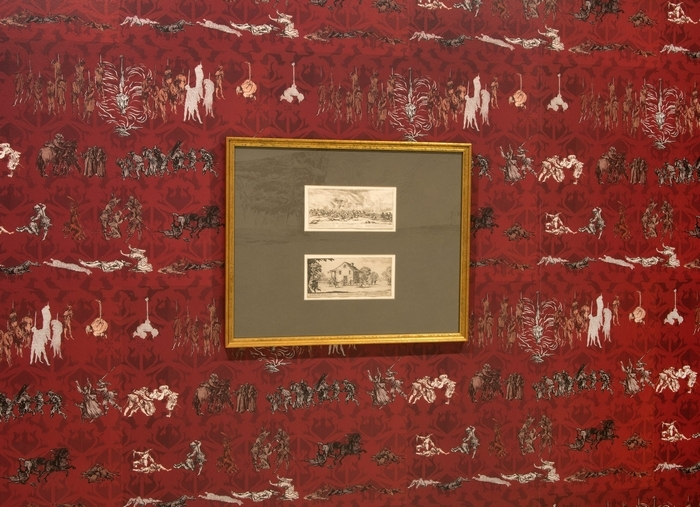 """Millie Chen: The Miseries and Vengeance Wallpapers"" is on view in the Albright-Knox Art Gallery."