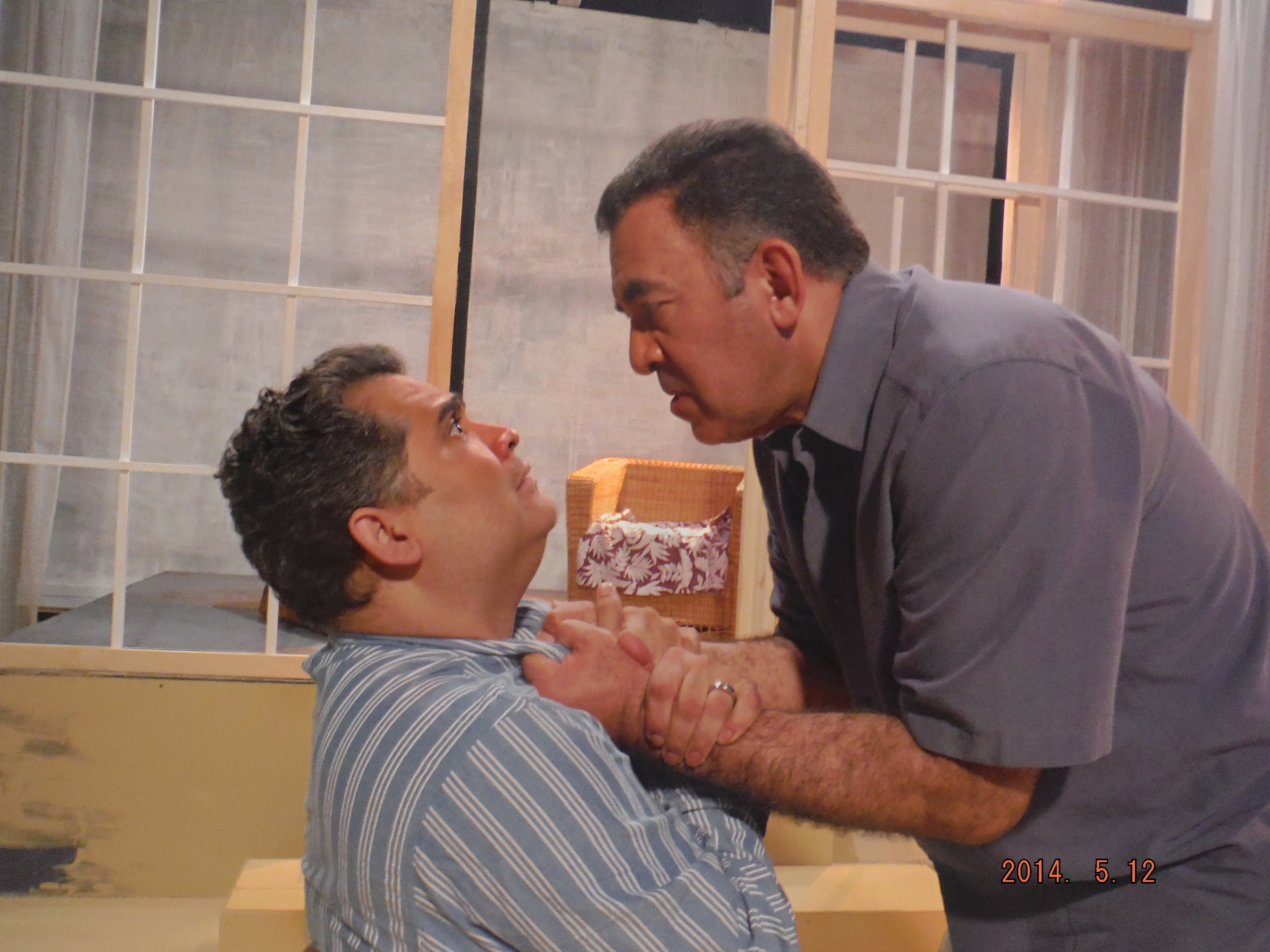 "Rolando Gomez and Victor Morales appear in the Subversive Theatre Collective and Raices Theatre's co-production of ""Death and the Maiden."""
