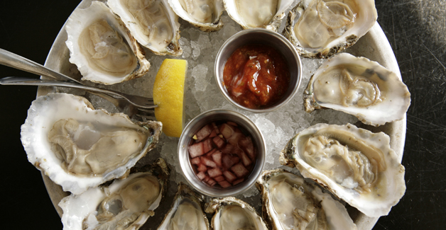 Merroir, a restaurant of the Rappahannock Oyster Company, serves a plate of oysters. This photo is not representative of Tabree's plans. (Jay Paul for The New York Times)